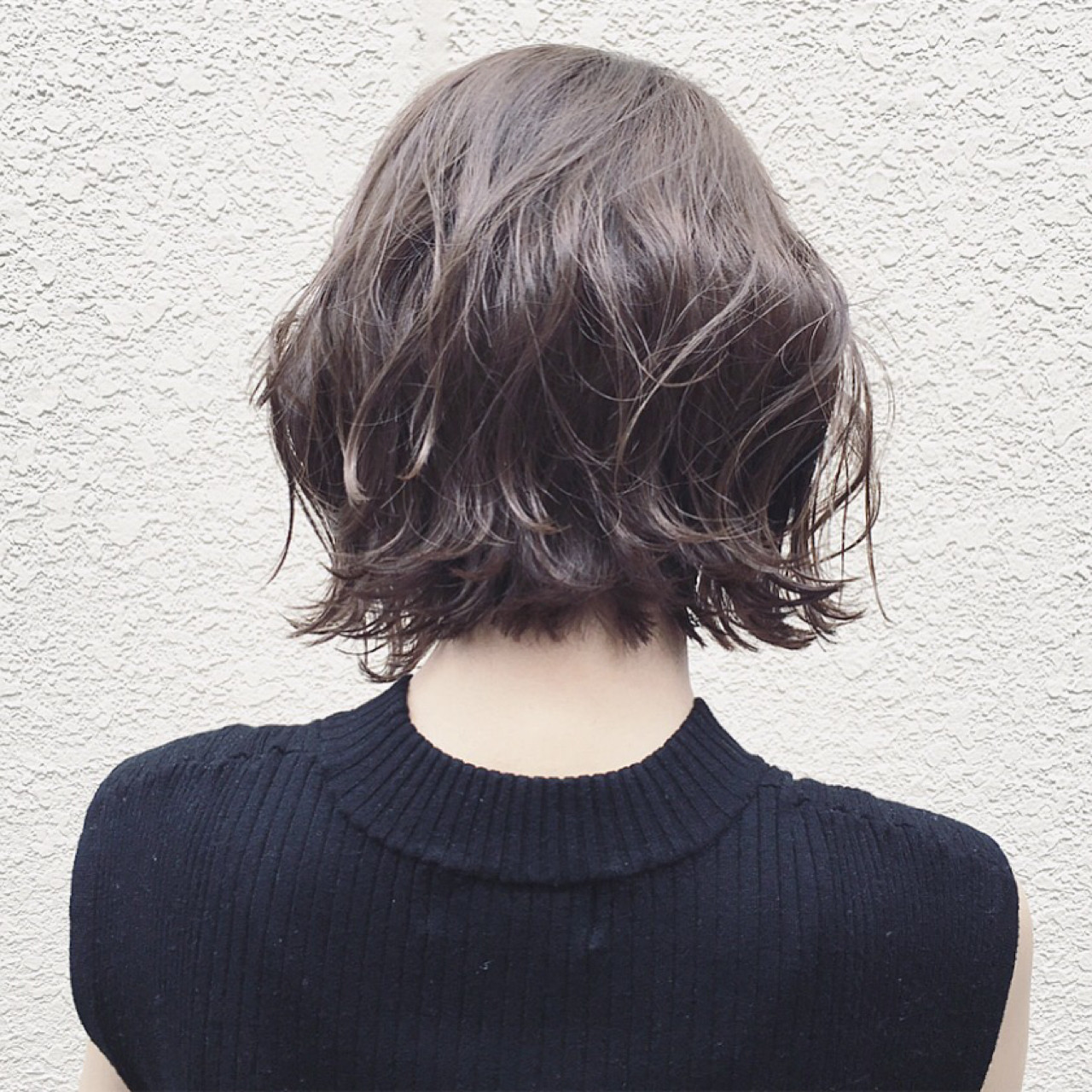 ボブ ナチュラル グレージュ 外国人風 ヘアスタイルや髪型の写真・画像 | 篠崎 佑介 / ticro.