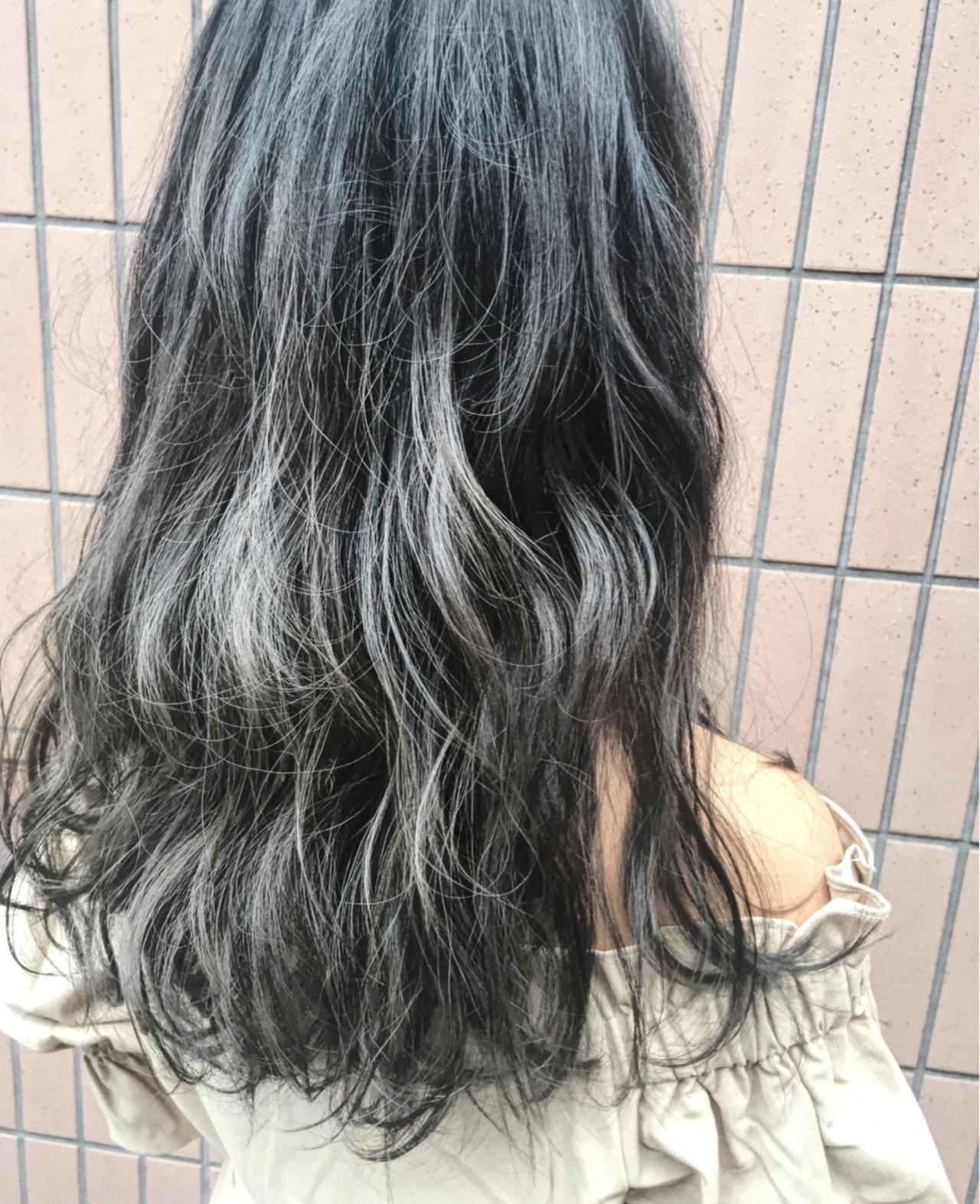 透明感 アッシュ 外国人風 ロング ヘアスタイルや髪型の写真・画像