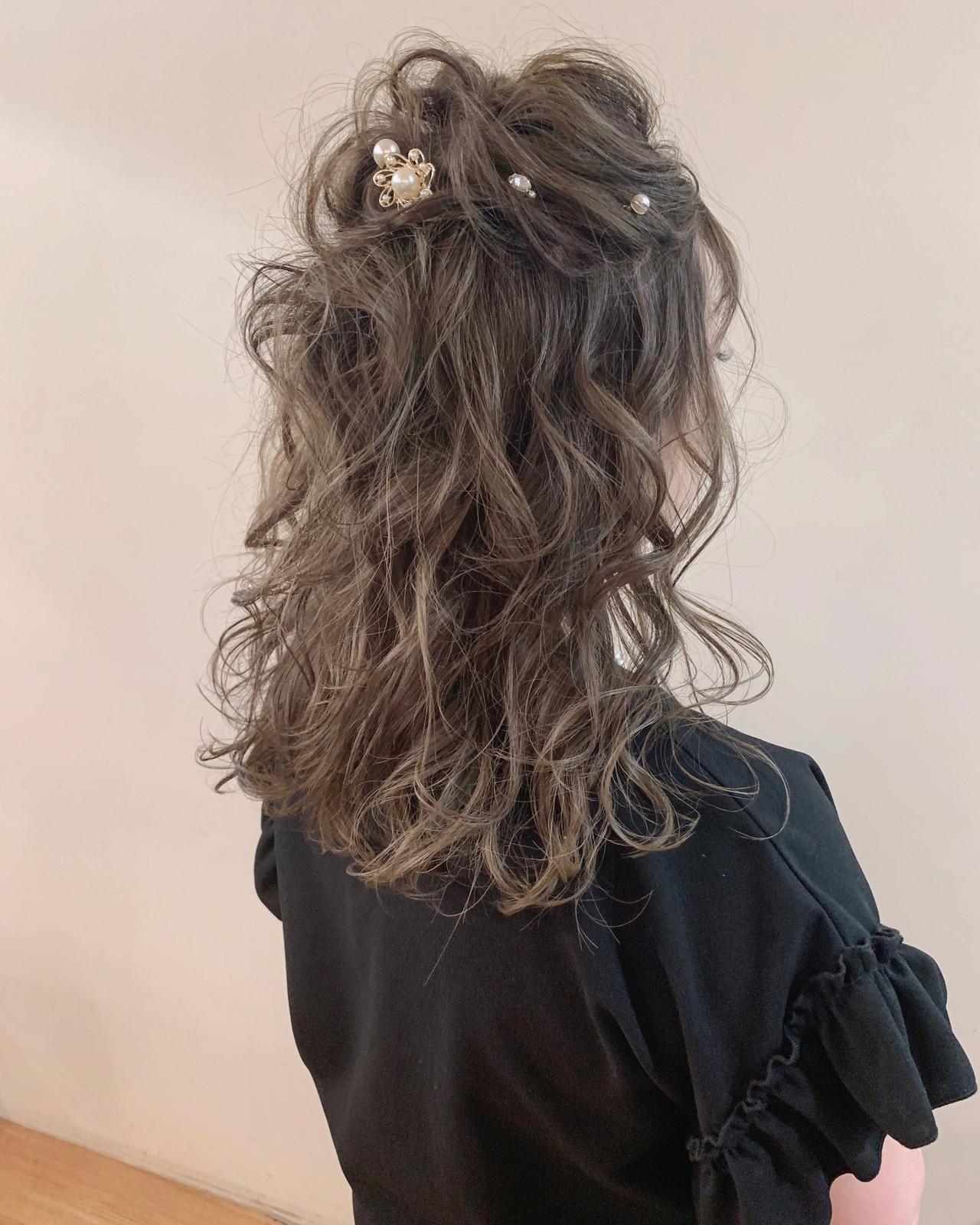 簡単ヘアアレンジ ナチュラル 大人かわいい ヘアアレンジ ヘアスタイルや髪型の写真・画像 | yumiko/sapporoSKNOW / SKNOW