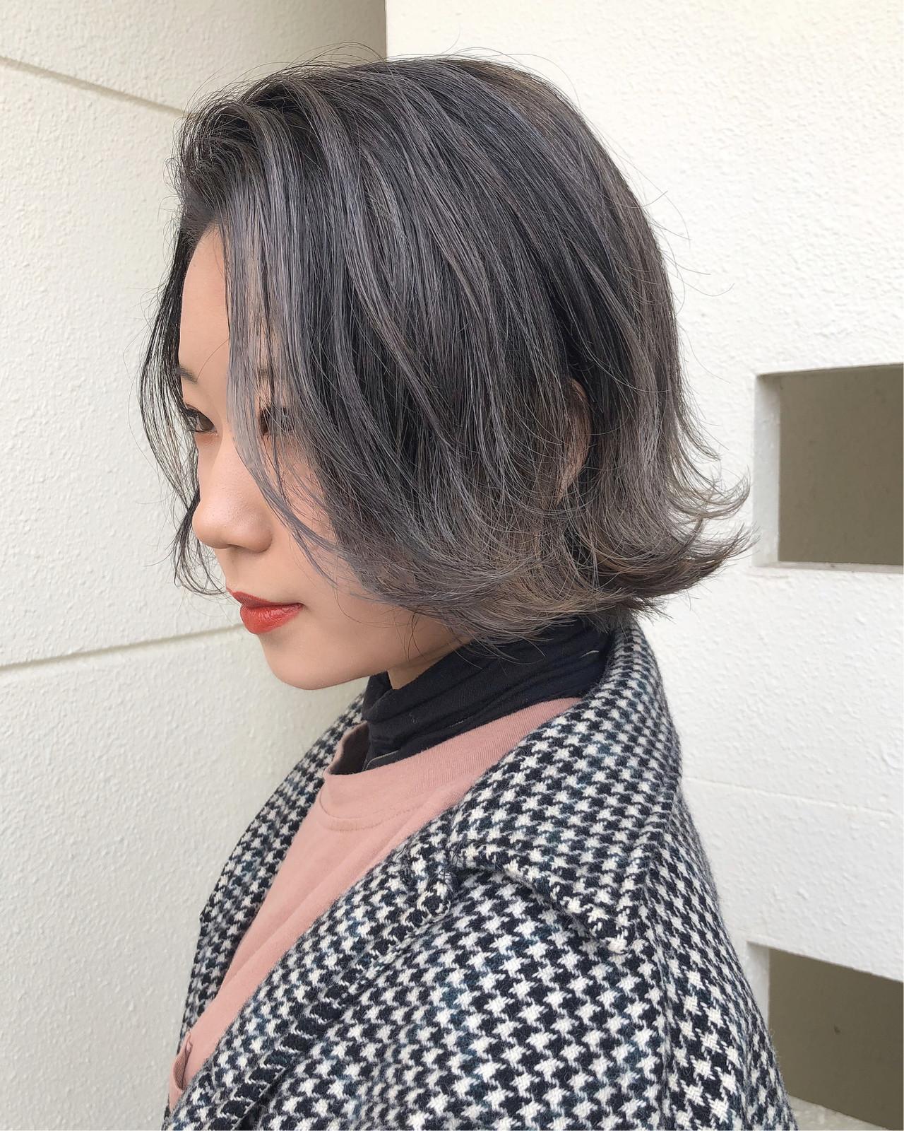 エアータッチ ショートボブ ボブ ミニボブ ヘアスタイルや髪型の写真・画像 | 佐藤タカヒロ / Gritter