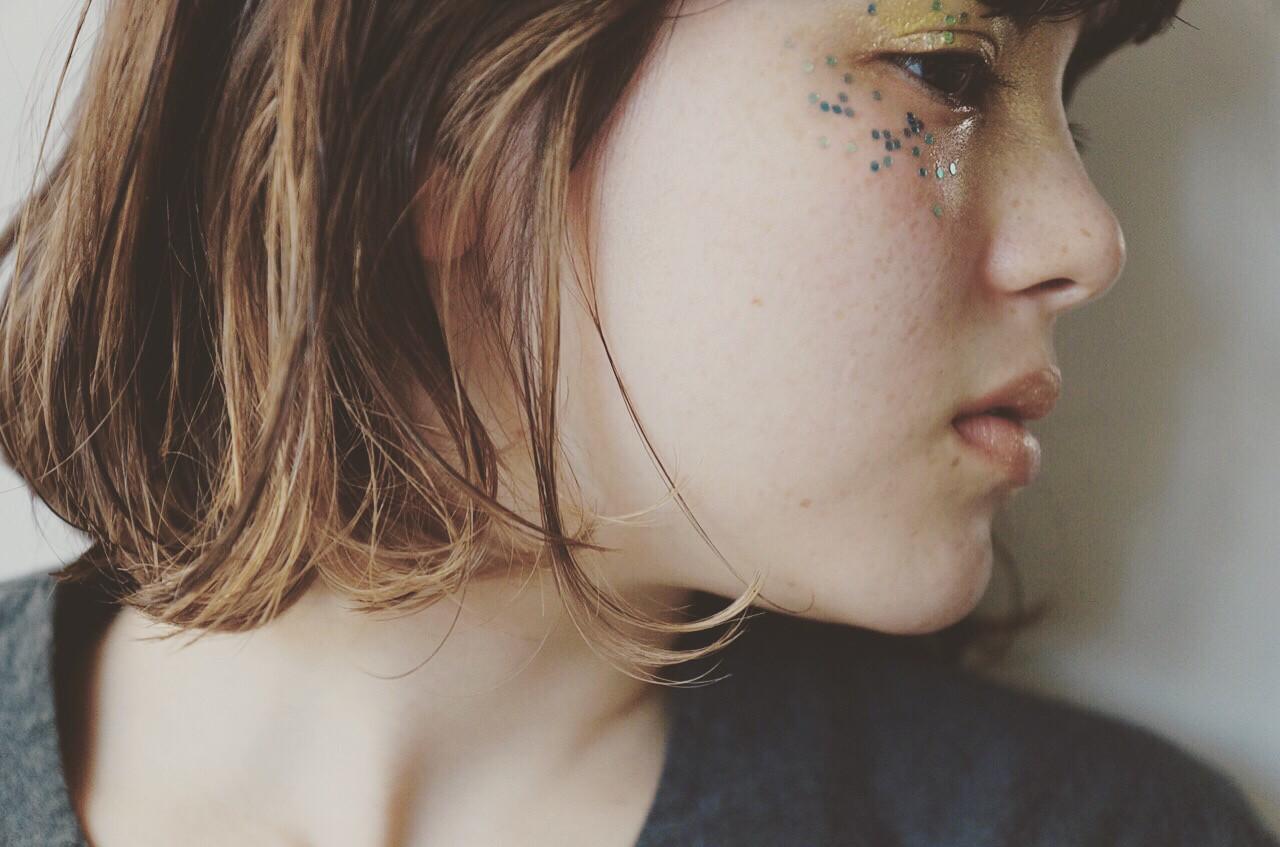 大人かわいい ハイライト パーマ ナチュラル ヘアスタイルや髪型の写真・画像 | UEKI/nanuk / nanuk二子玉川
