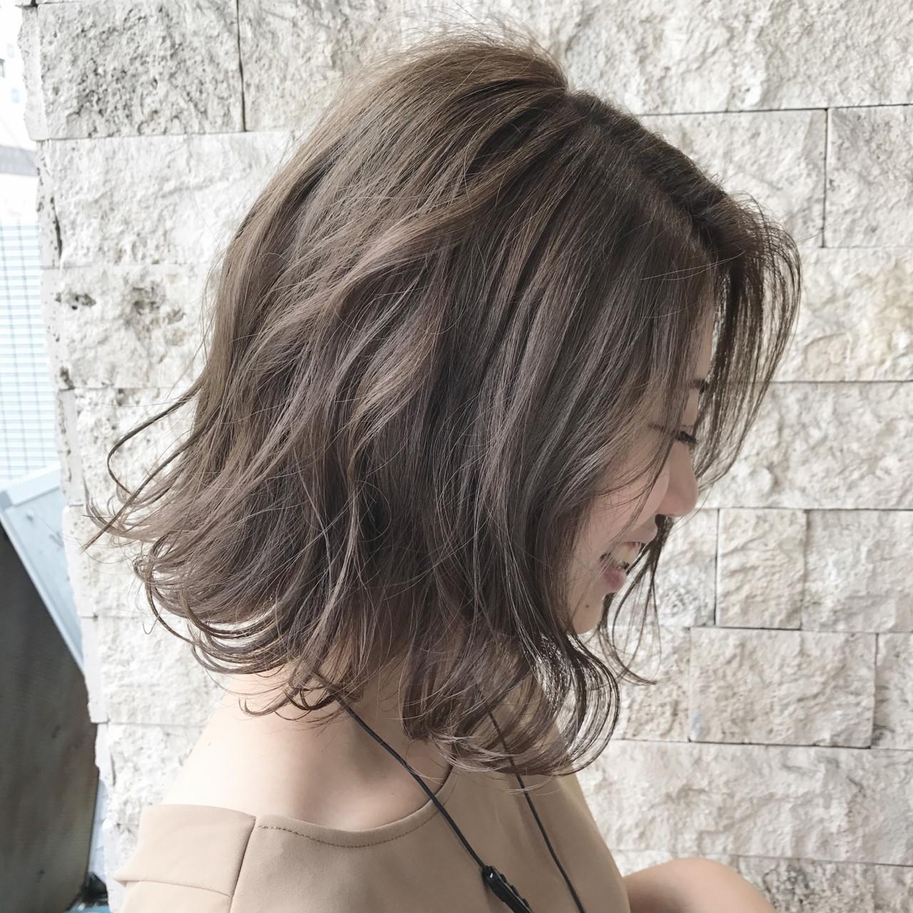 ナチュラル アッシュ 大人女子 こなれ感 ヘアスタイルや髪型の写真・画像 | 永尾 拓也 / unopulir 南森町店 (ウノプリール)