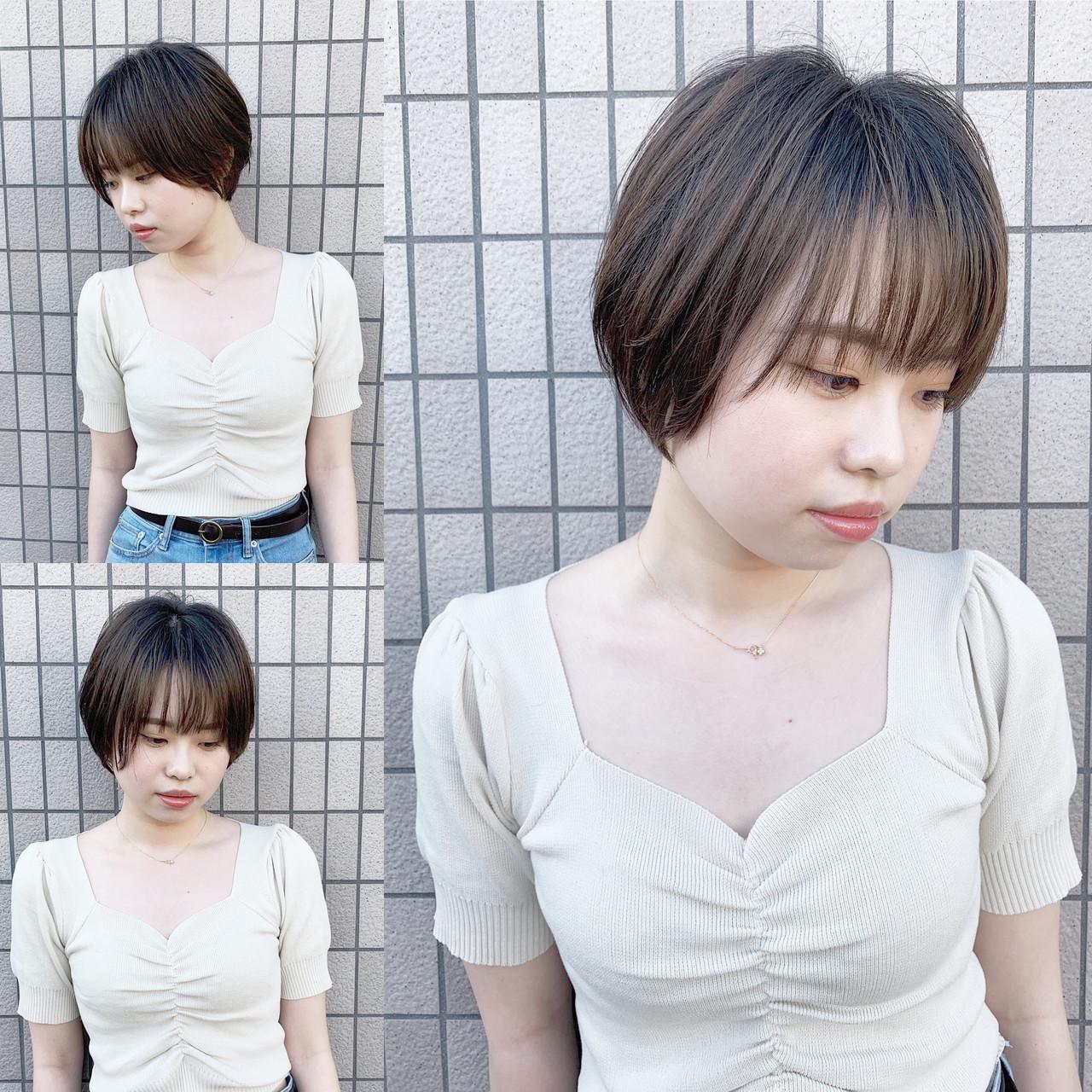 ふんわりショート  可愛い 大人可愛い ヘアスタイルや髪型の写真・画像
