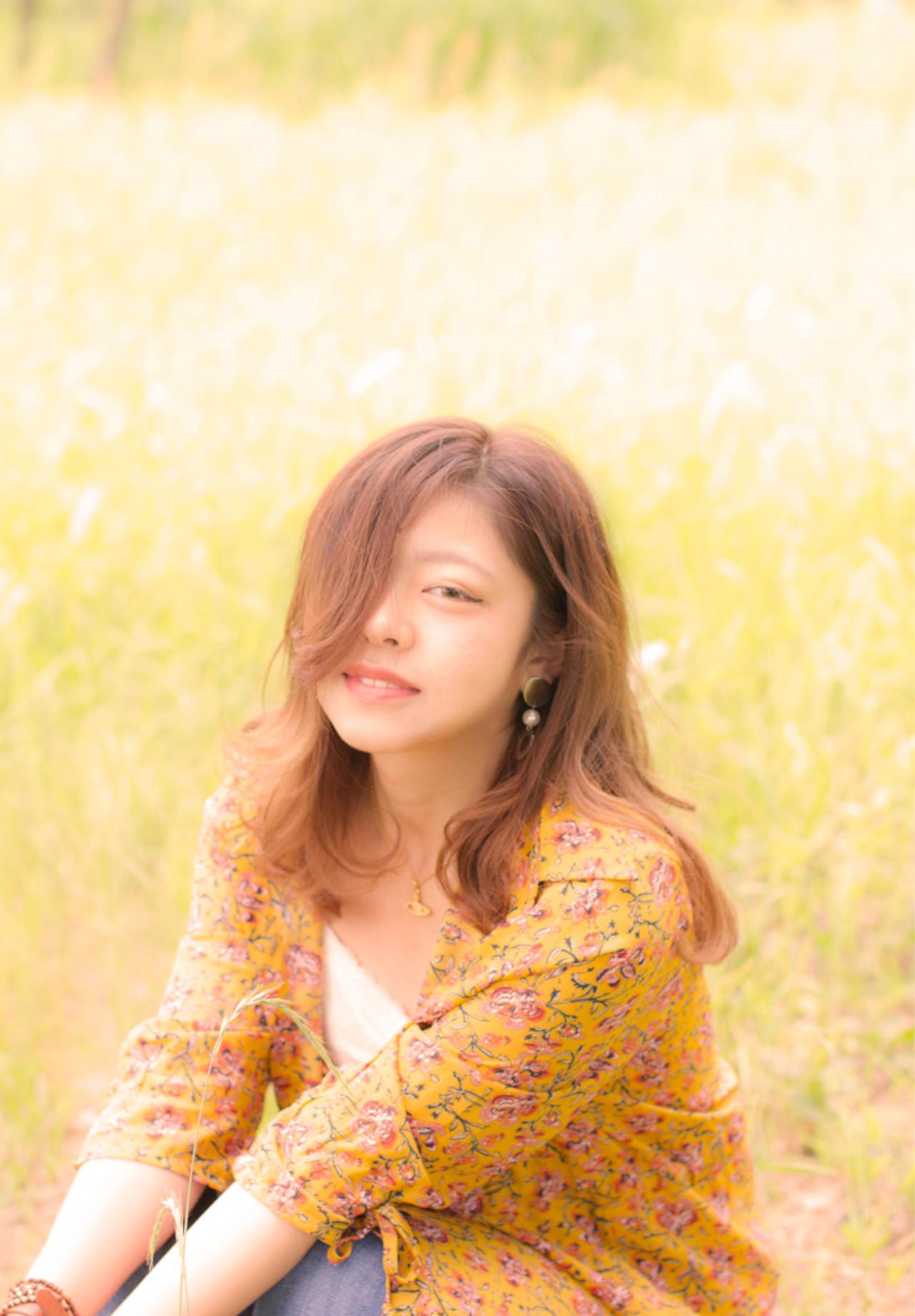 外国人風 色気 斜め前髪 デート ヘアスタイルや髪型の写真・画像 | 岩切陽平 / Hair&Beauty AURA