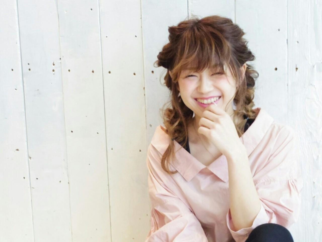 ガーリー セミロング ルーズ ヘアアレンジ ヘアスタイルや髪型の写真・画像 | KUMA / hair make PUR