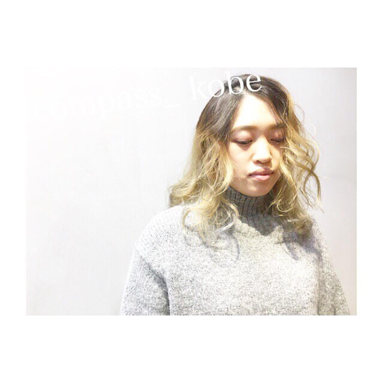 ロブヘア × 外国人風 グラデーションカラー☆ スタッフ募集中♫
