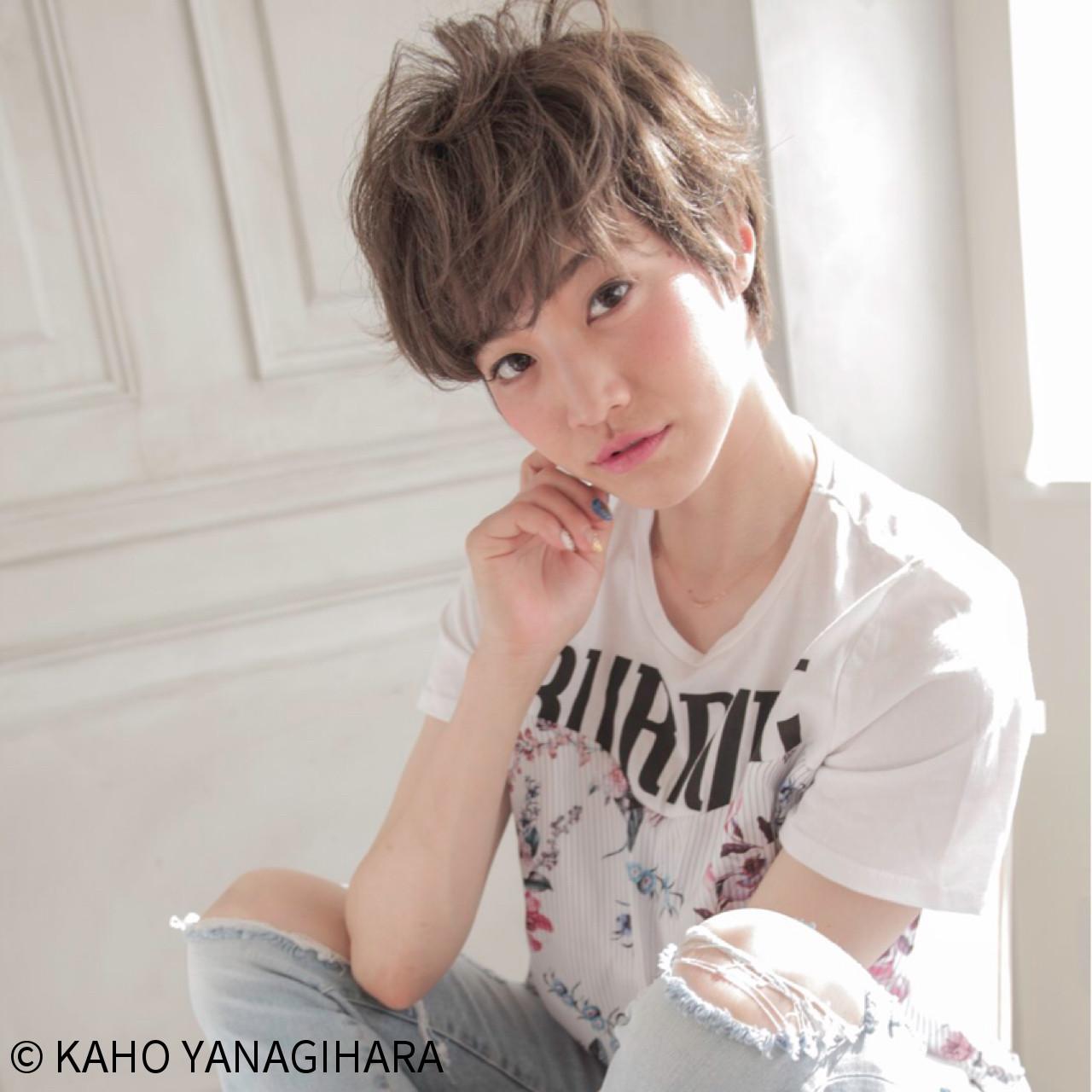 リラックス アンニュイ 大人かわいい ウェーブ ヘアスタイルや髪型の写真・画像   KAHO YANAGIHARA /