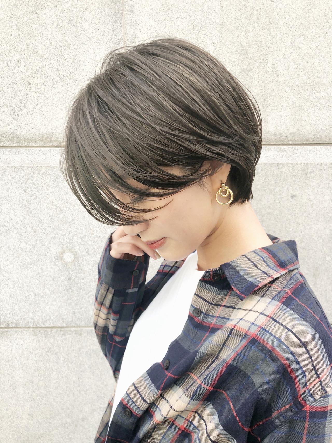 ハンサムショート ショート デート ナチュラル ヘアスタイルや髪型の写真・画像