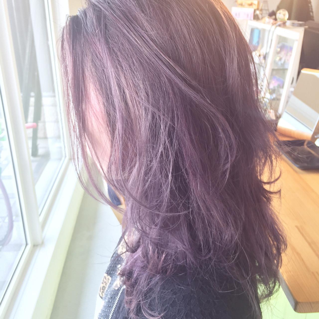 ストリート 外国人風 ミディアム グラデーションカラー ヘアスタイルや髪型の写真・画像 | 原木翔太 / lufun hair design  ルファン