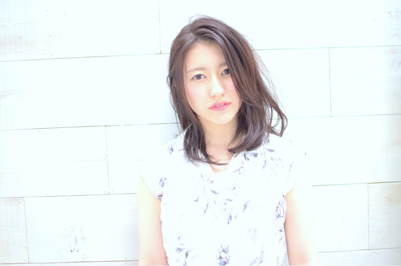 ミディアム ゆるふわ 大人かわいい 外国人風 ヘアスタイルや髪型の写真・画像 | 三村 昇 / MUSEUM(ミュージアム)