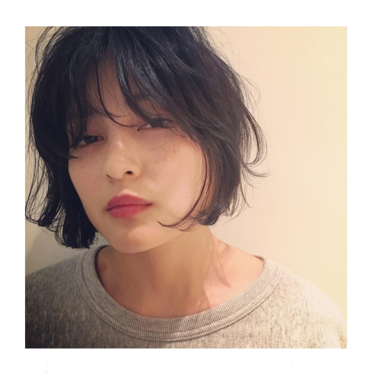 ゆるふわ 外ハネ ボブ パーマ ヘアスタイルや髪型の写真・画像 | Yousuke Yamaura / vetica