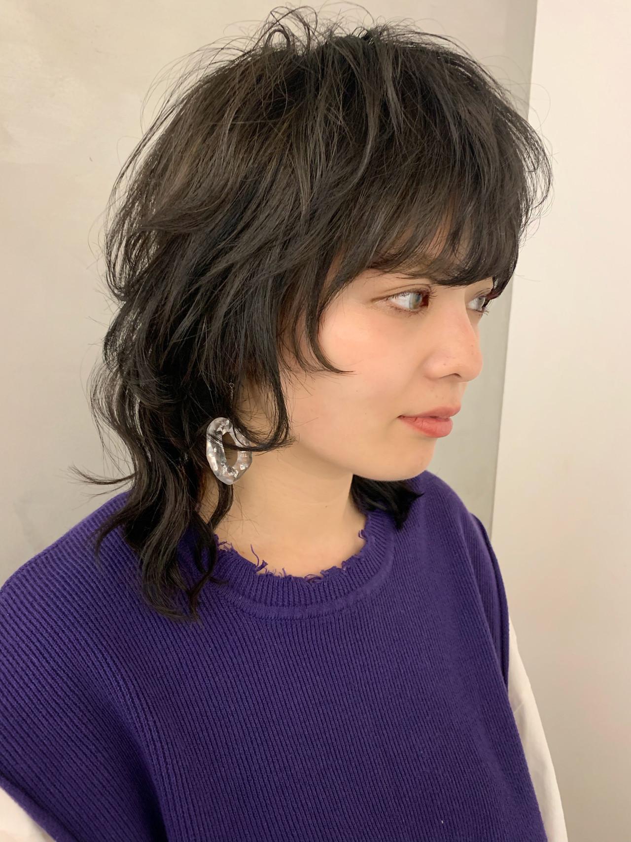 マッシュウルフ ネオウルフ ストリート ウルフカット ヘアスタイルや髪型の写真・画像