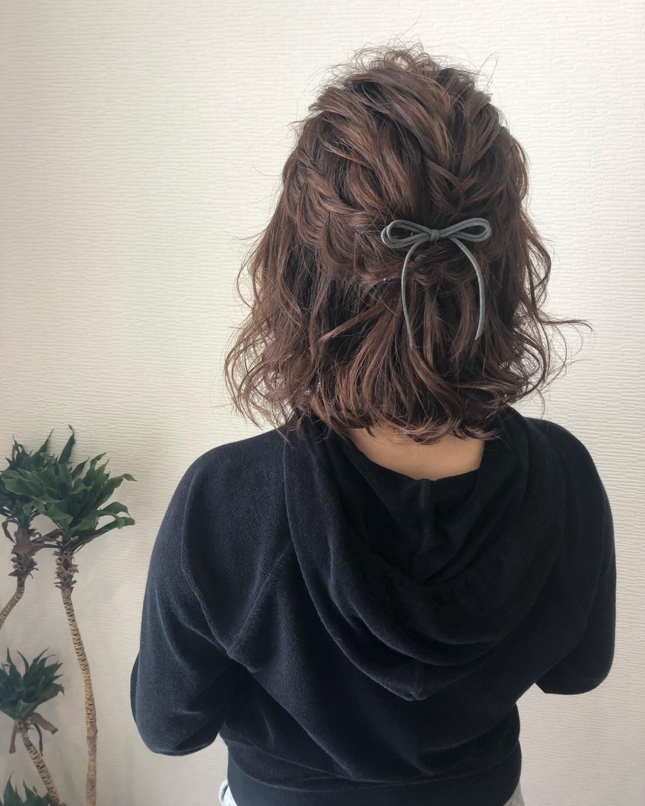 ヘアセット ボブアレンジ ボブ ヘアアレンジ ヘアスタイルや髪型の写真・画像 | mai / HAIR SALON STELLA