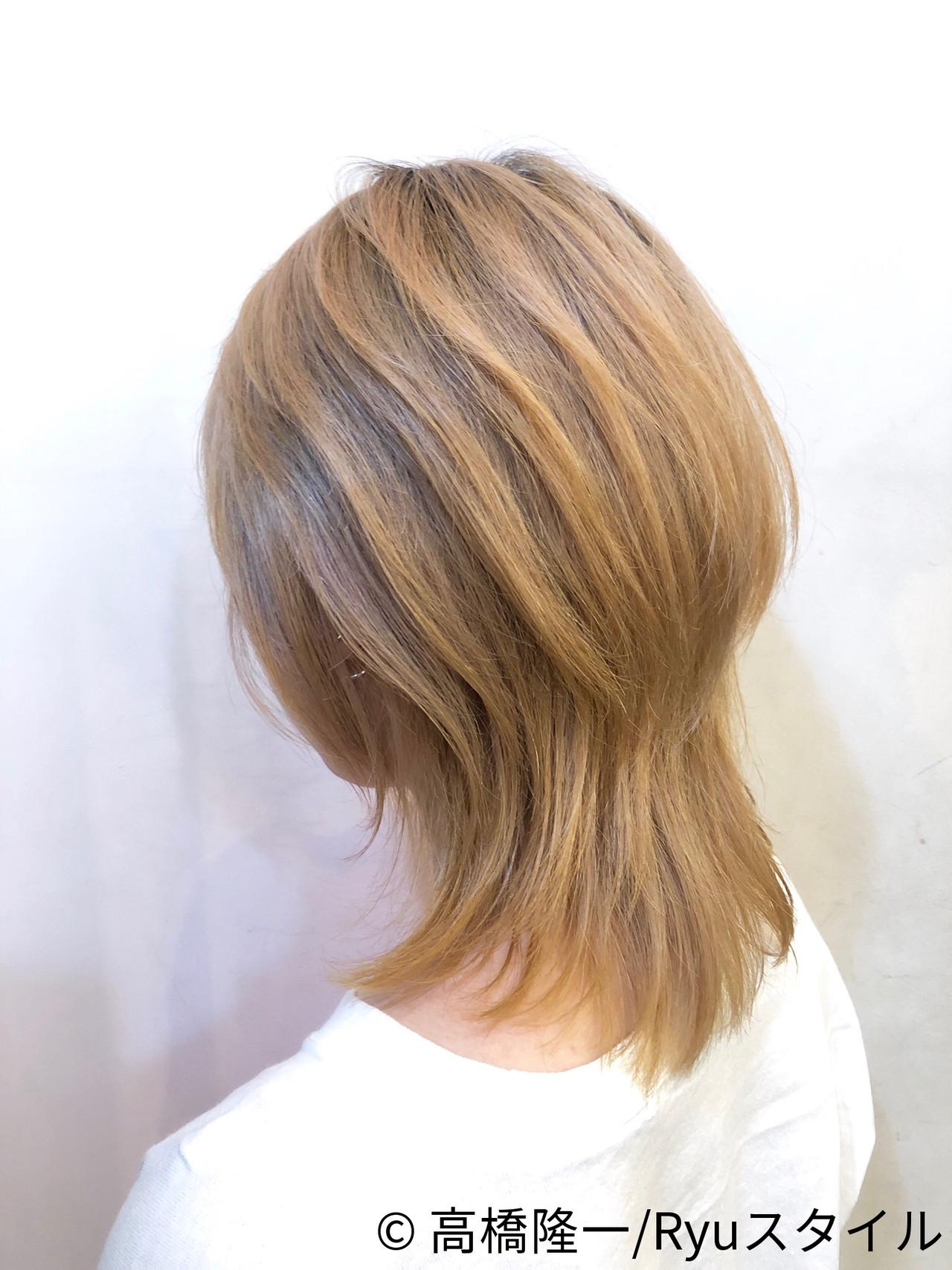 ウルフカット ストリート 透明感カラー 外国人風 ヘアスタイルや髪型の写真・画像