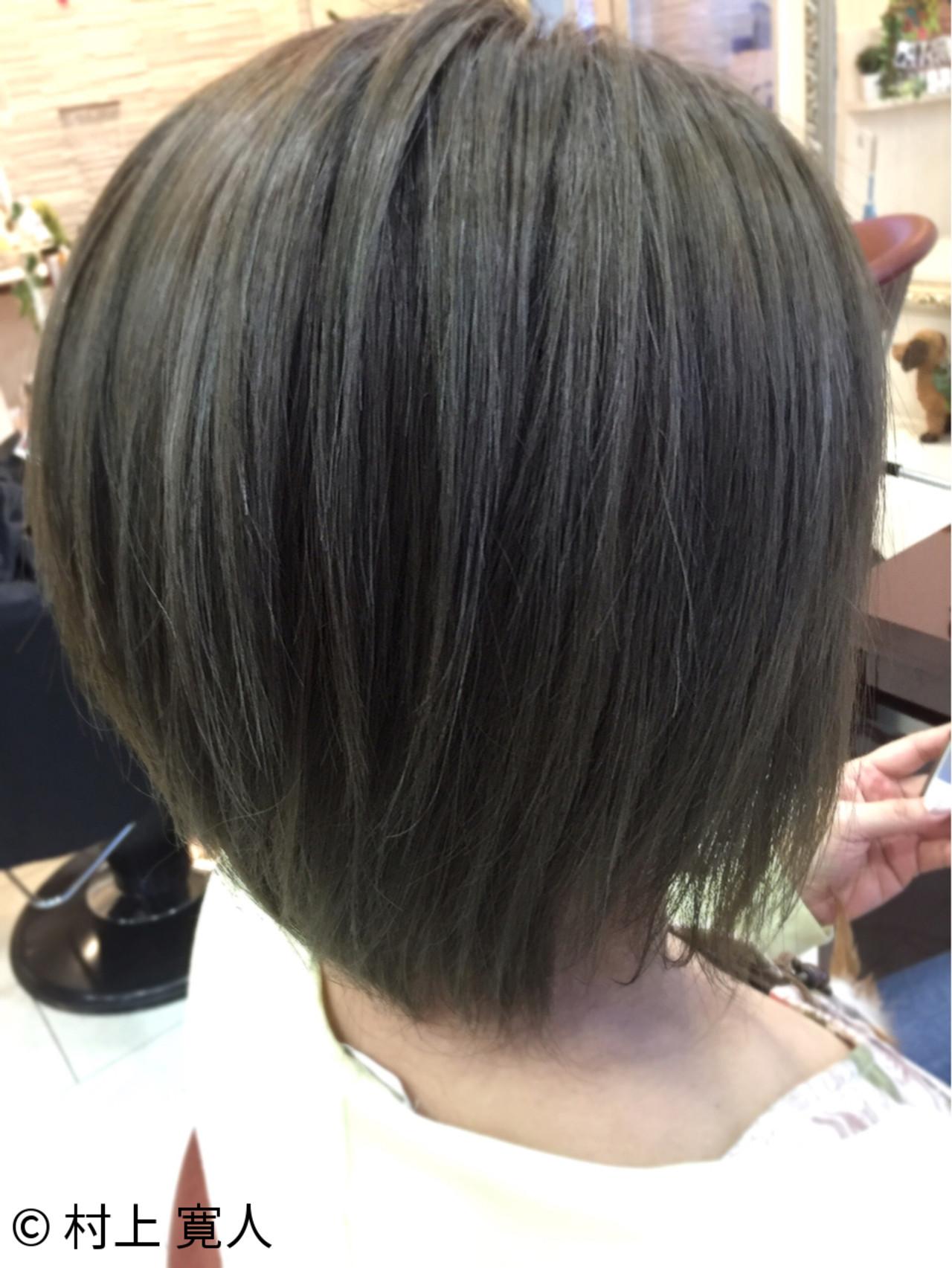 アッシュ 外国人風カラー イルミナカラー ショート ヘアスタイルや髪型の写真・画像 | 村上 寛人 ムラカミ ヒロト / hair therapy Sara (ヘアー セラピー サラ)