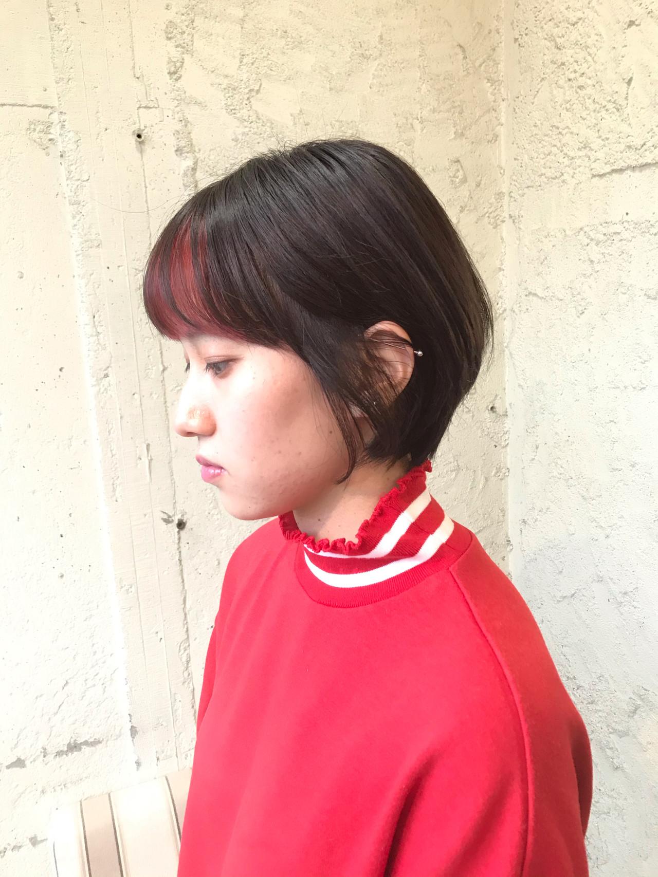 ショートヘア 切りっぱなしボブ ショートボブ ミニボブ ヘアスタイルや髪型の写真・画像 | 山下 誠矢 / penelope