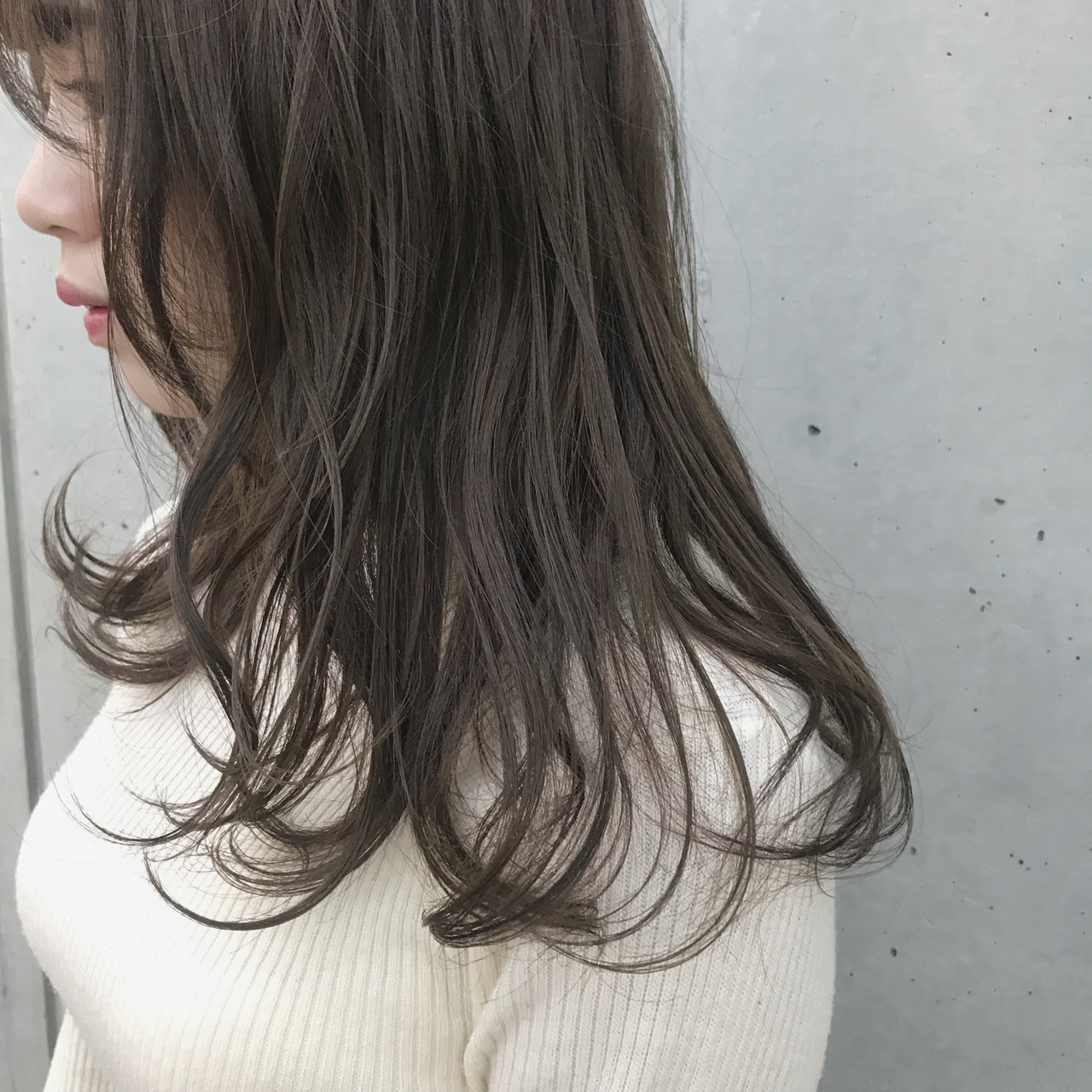 オーガニックアッシュ ナチュラル オーガニックカラー オーガニック ヘアスタイルや髪型の写真・画像 | 井浦果歩 / ecouter