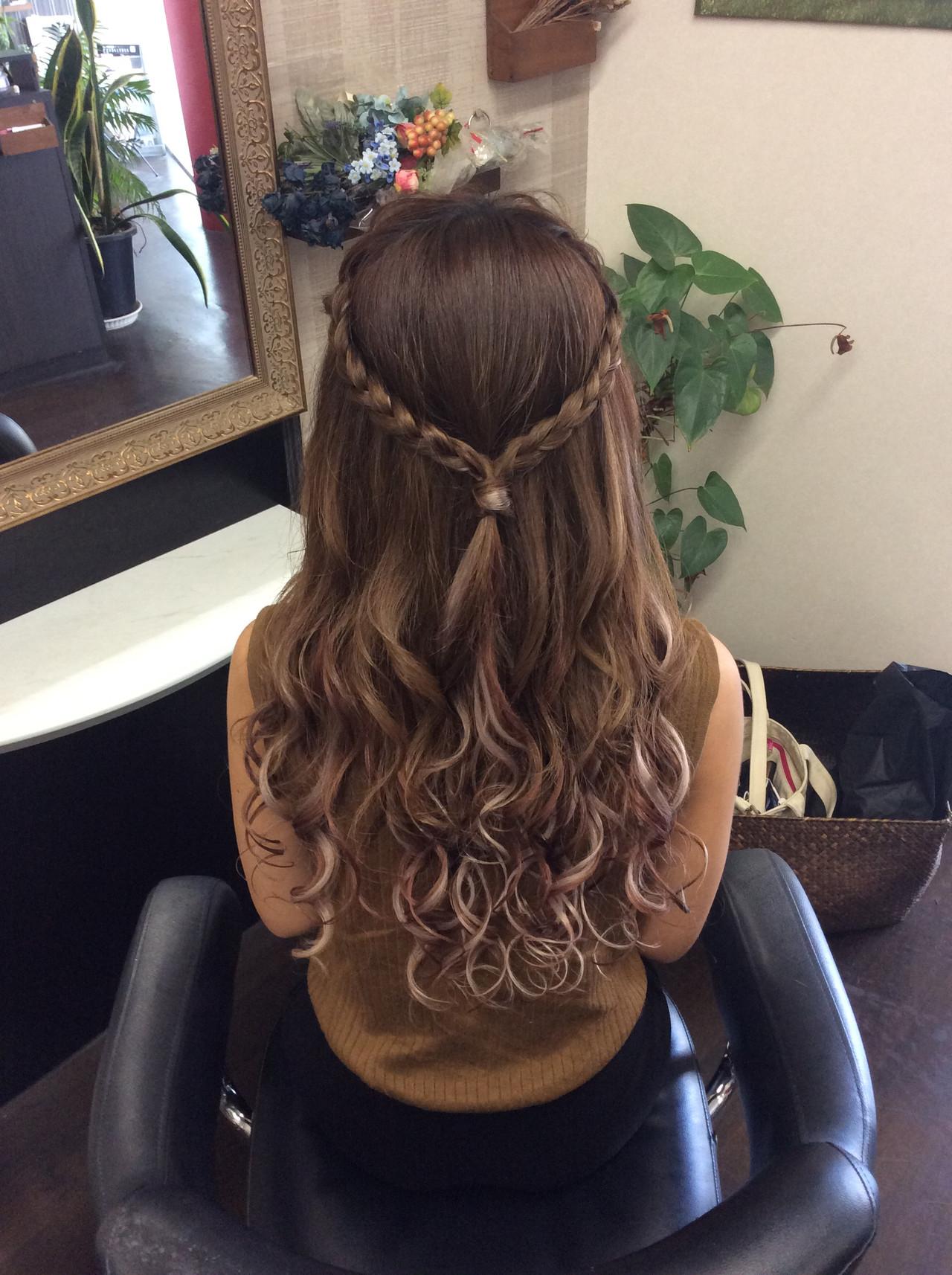 ナチュラル ロング 簡単ヘアアレンジ デート ヘアスタイルや髪型の写真・画像 | rumiLINKS美容室 / リンクス美容室
