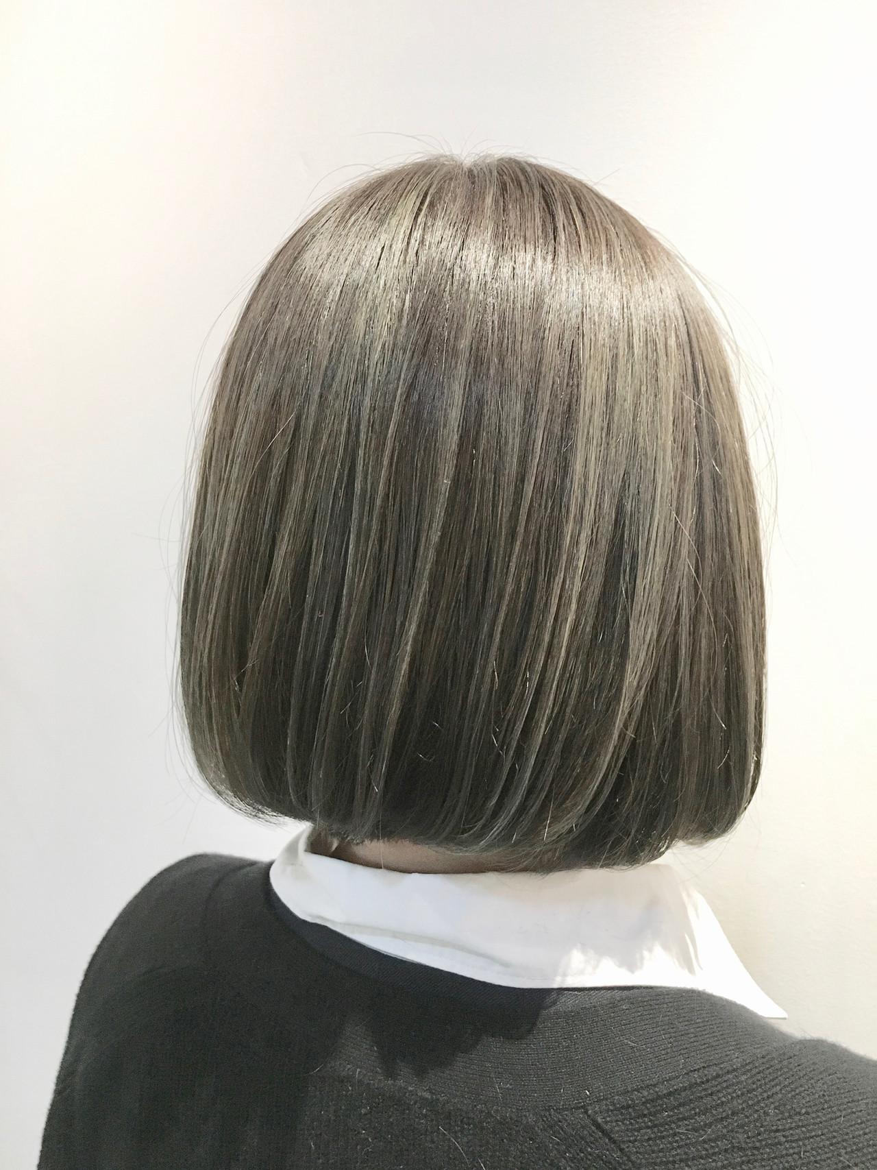 グレージュ ガーリー カーキアッシュ ハイライト ヘアスタイルや髪型の写真・画像