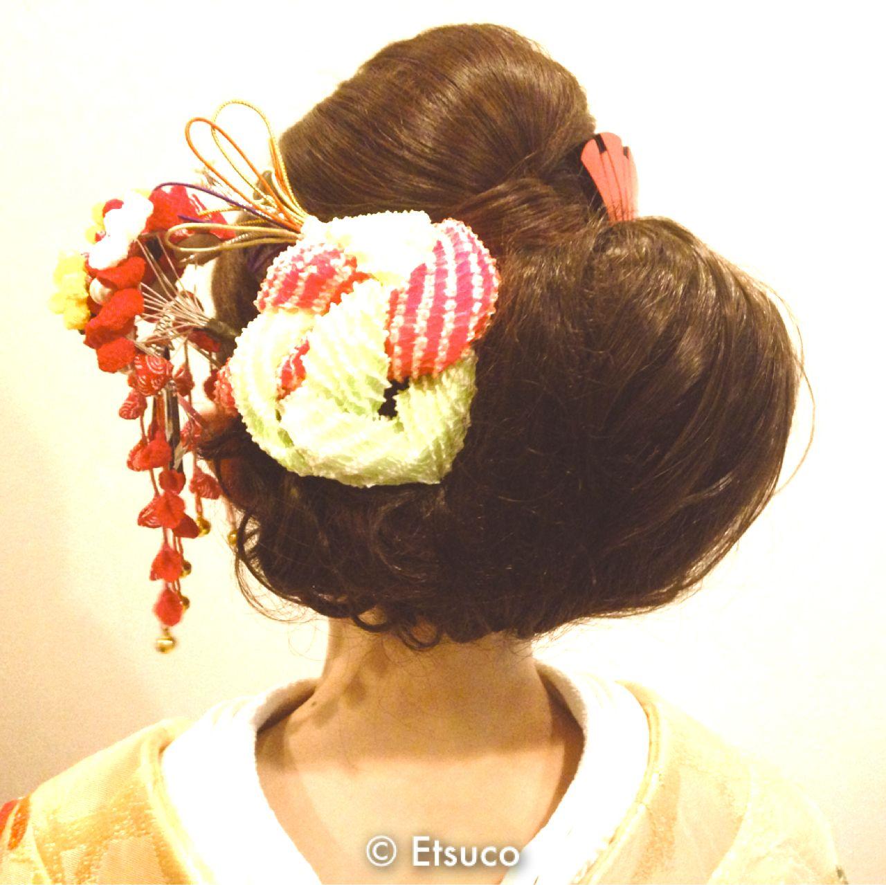 ヘアアレンジ 卵型 花嫁 和装 ヘアスタイルや髪型の写真・画像 | Etsuco / Freelance Hair&make