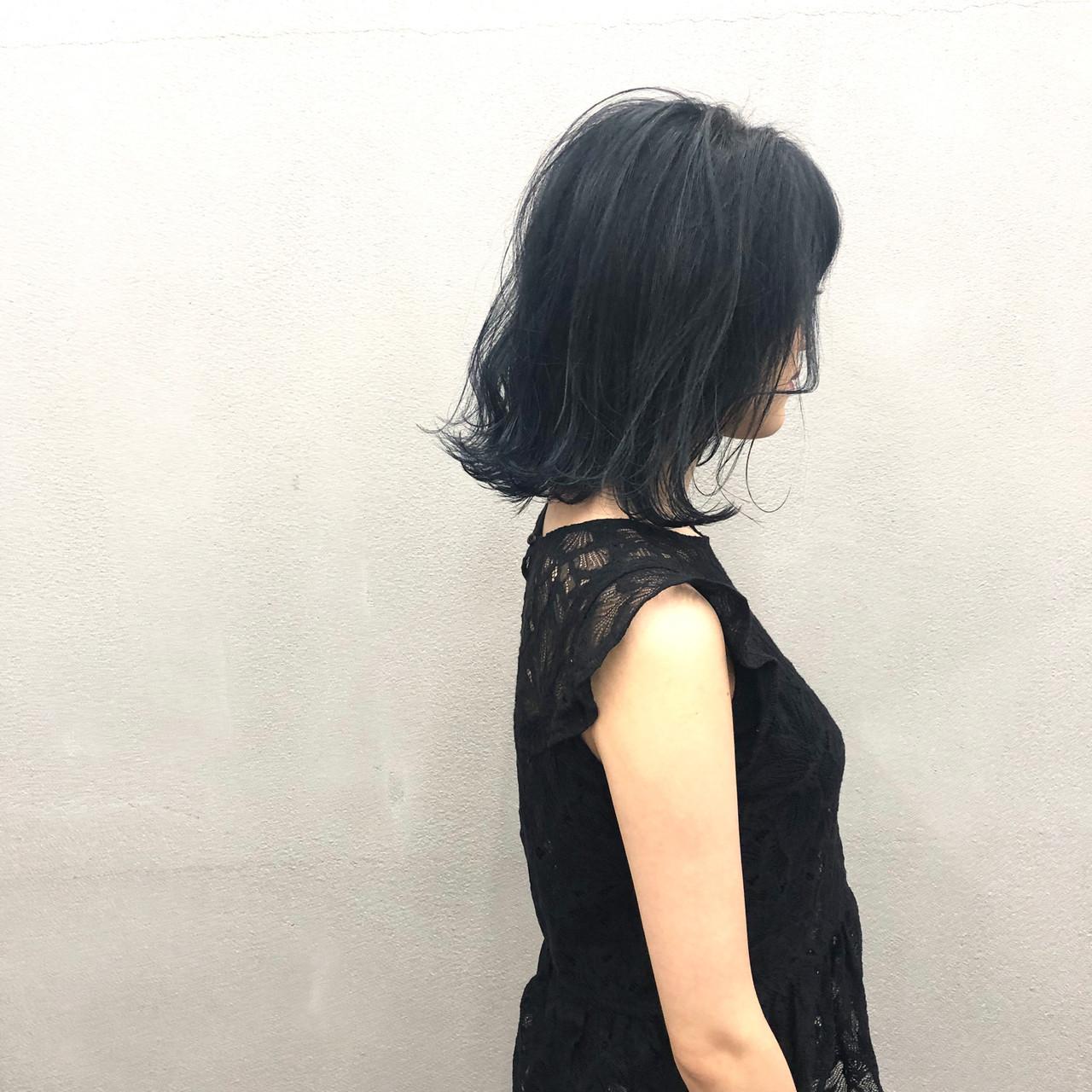 簡単スタイリング 切りっぱなしボブ 外ハネボブ ナチュラル ヘアスタイルや髪型の写真・画像