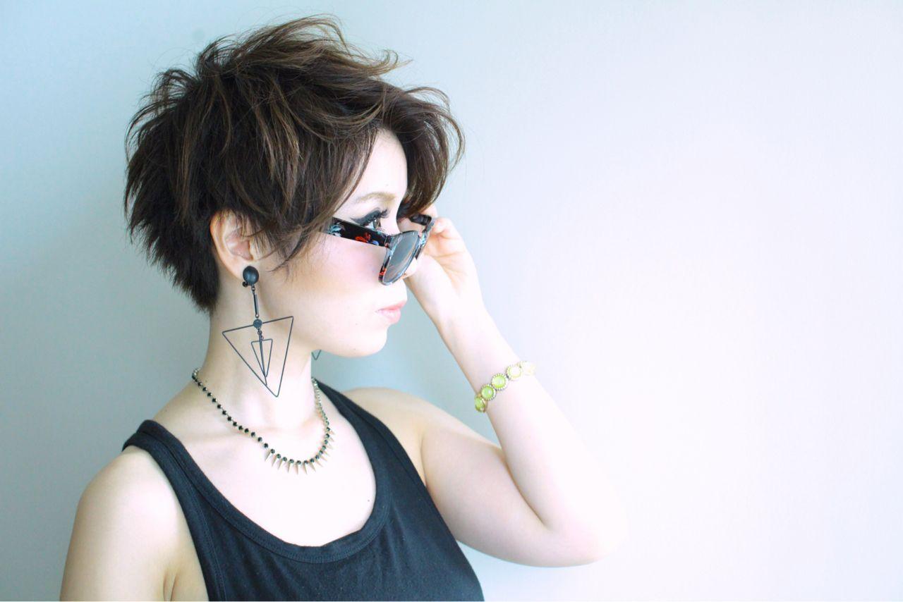 ベリーショート ストレート ショート ガーリー ヘアスタイルや髪型の写真・画像