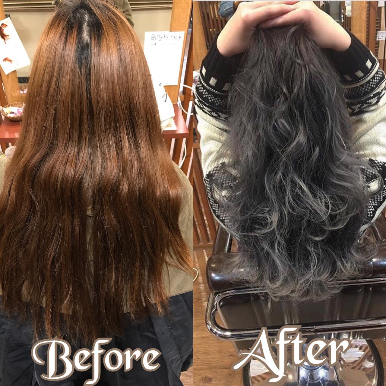 ロング 上品 グレージュ ハイライト ヘアスタイルや髪型の写真・画像 | デザインカラー講師 REOMA / BLITZ R-EVOLUT