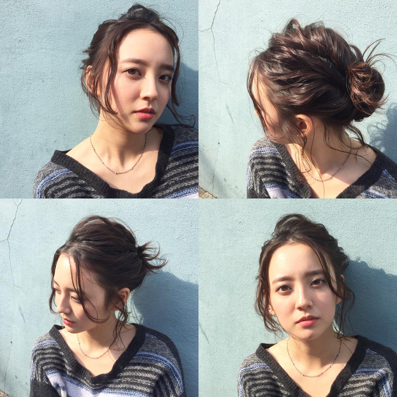 外国人風 ショート 簡単ヘアアレンジ ヘアアレンジ ヘアスタイルや髪型の写真・画像   katsutoshi nambu / MAGNOLiA