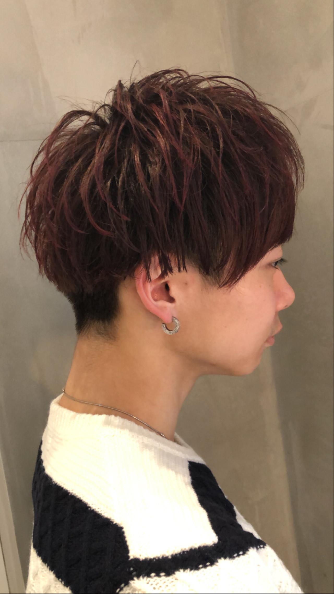 ナチュラル メンズカラー メンズカット 赤髪 ヘアスタイルや髪型の写真・画像 | 近藤 凌 / CUORE松戸店