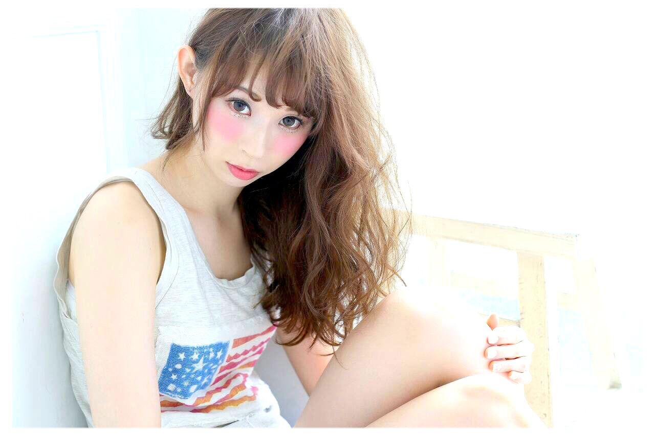 ゆるふわ ヘアアレンジ ロング 外国人風 ヘアスタイルや髪型の写真・画像