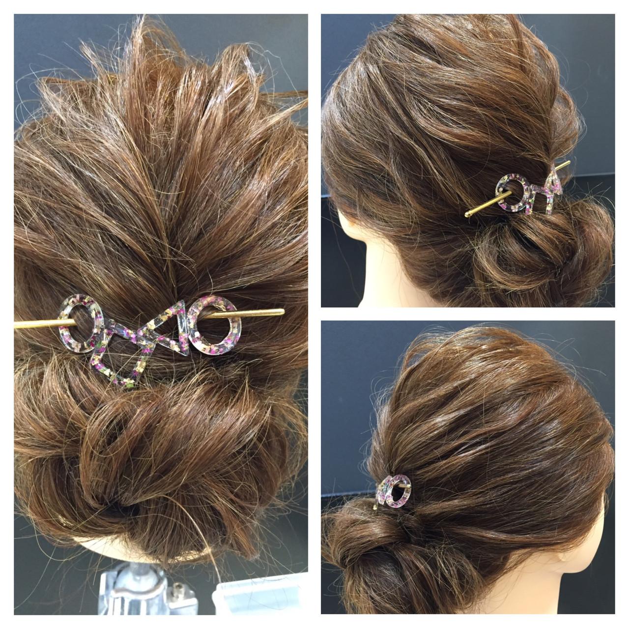 女子会 簡単ヘアアレンジ ロング デート ヘアスタイルや髪型の写真・画像