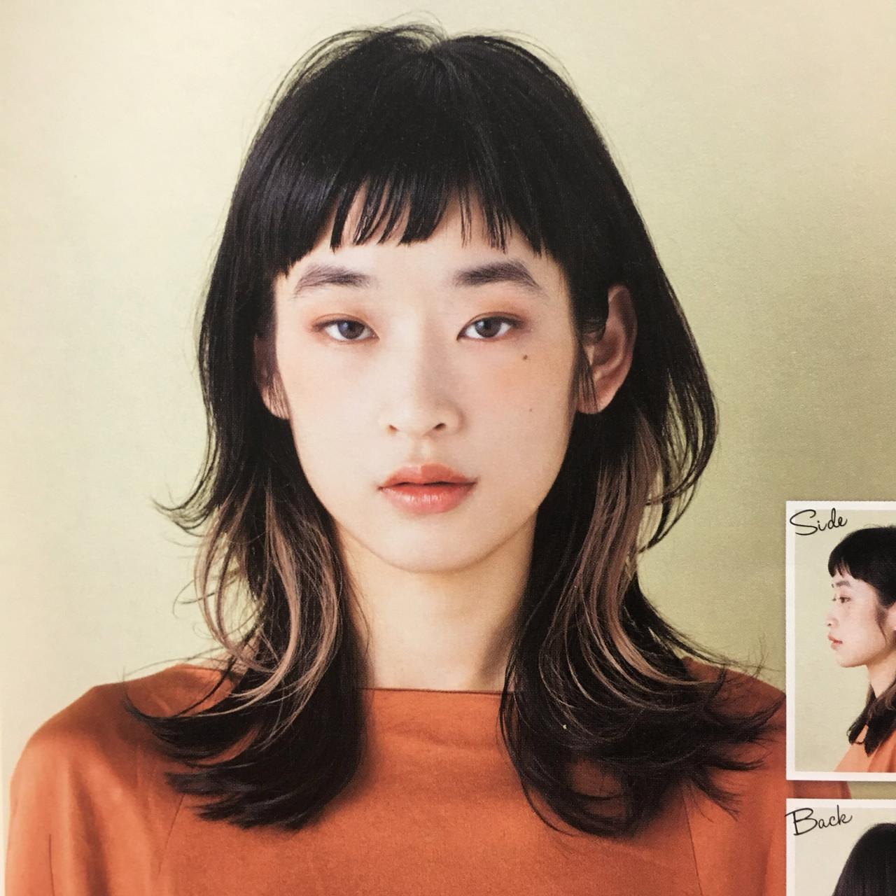 ショートバング ウルフカット ニュアンスウルフ ウルフレイヤー ヘアスタイルや髪型の写真・画像