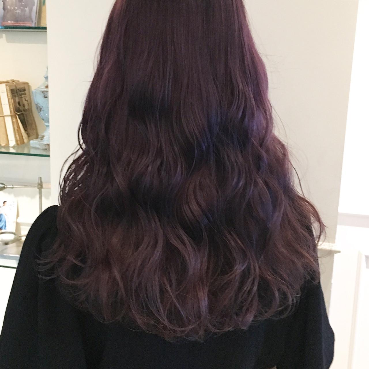ロング ゆるふわ ピンク 透明感 ヘアスタイルや髪型の写真・画像   やしまひとみ / ROVER