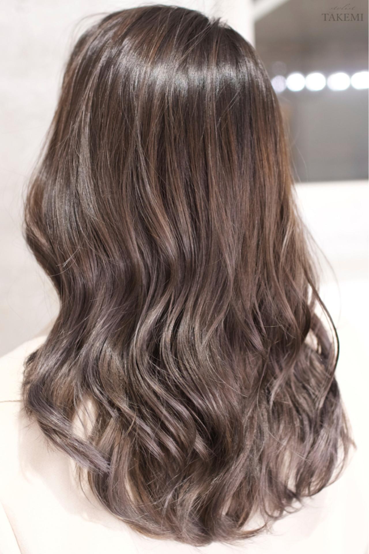 ロング ハイライト ダブルカラー バレイヤージュ ヘアスタイルや髪型の写真・画像 | TAKEMI / BEBE 表参道