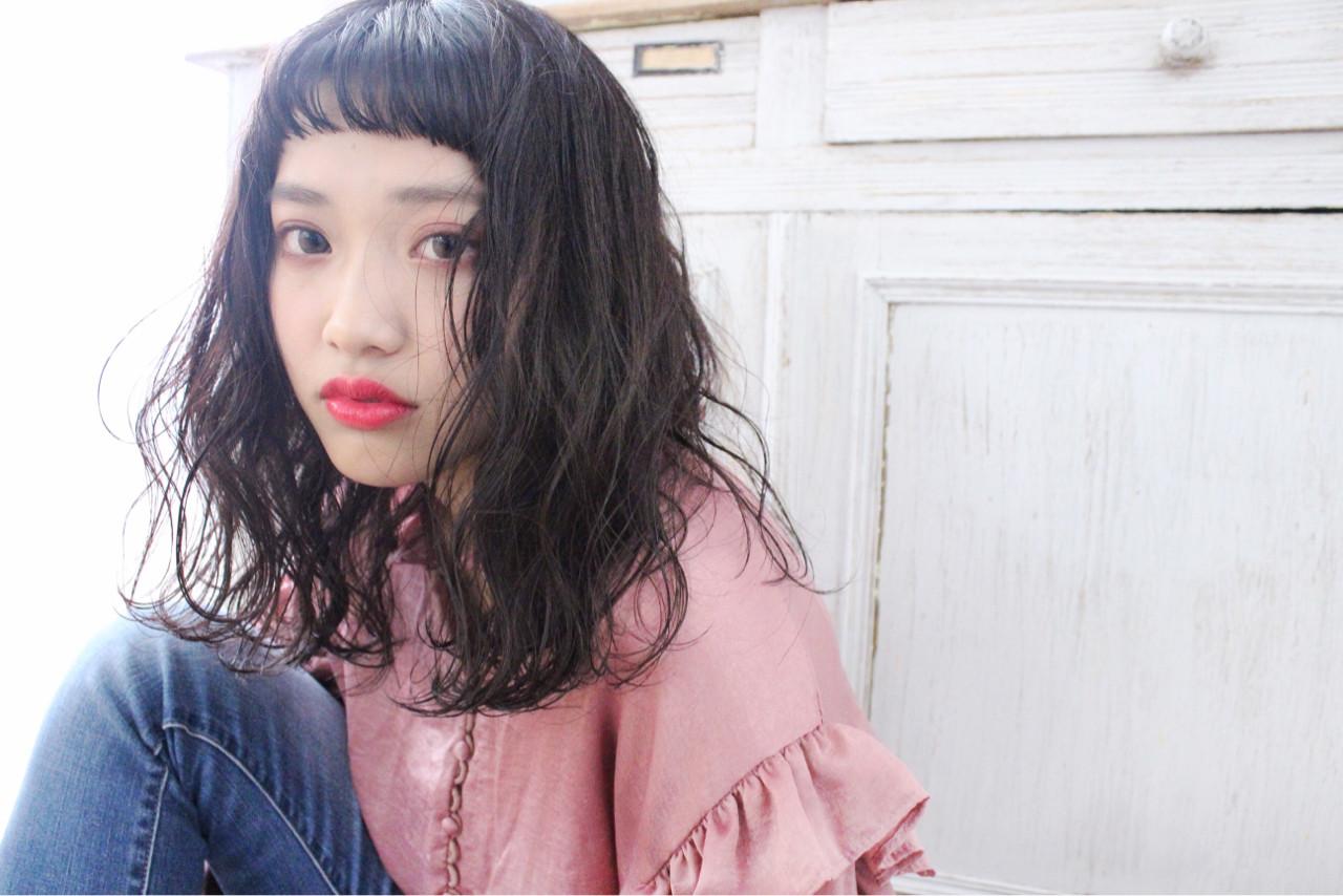ゆるふわ こなれ感 ミディアム ナチュラル ヘアスタイルや髪型の写真・画像   上田智久 / ooit 福岡 天神 / ooit