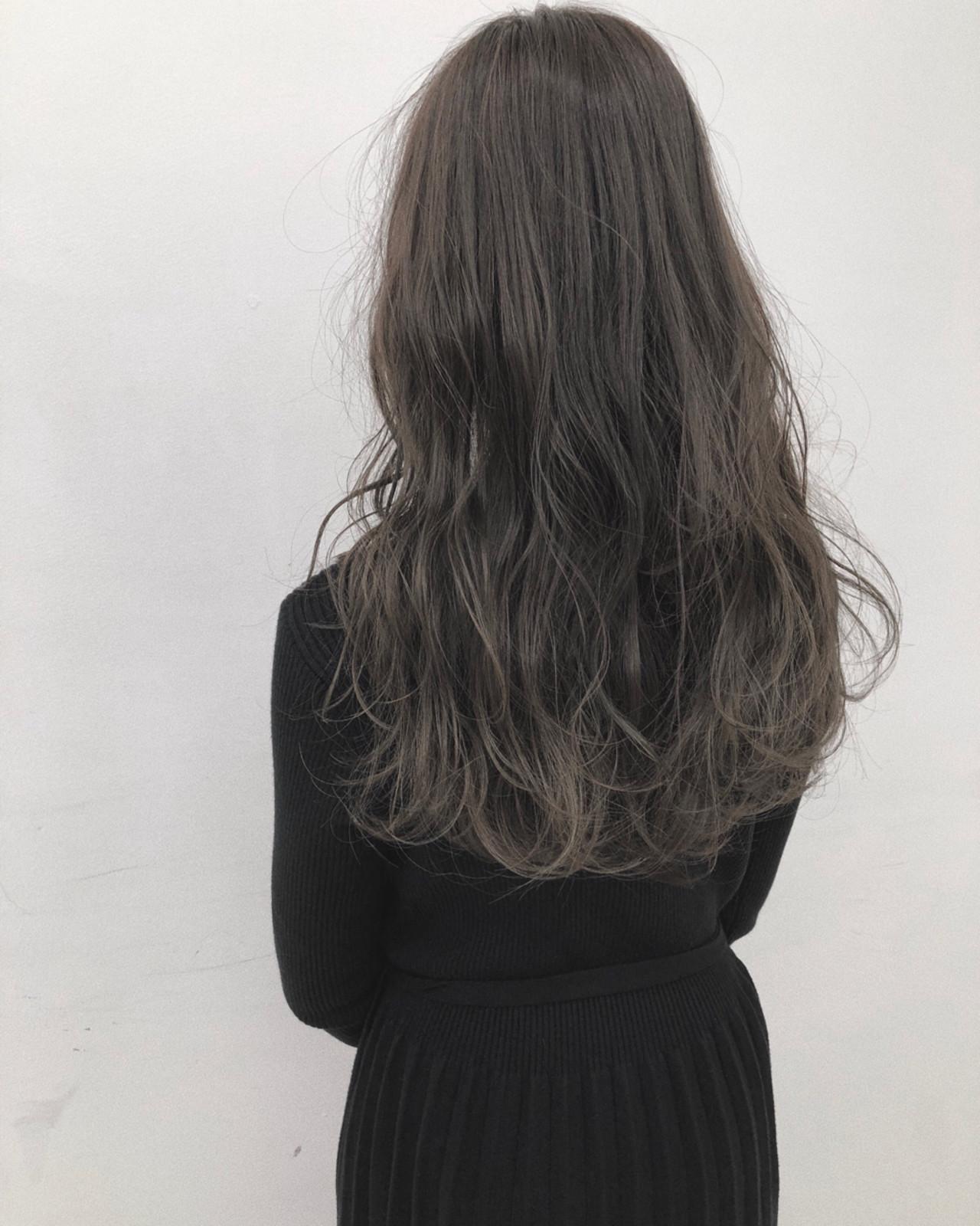 ロング ナチュラル ブルージュ ハイライト ヘアスタイルや髪型の写真・画像 | koki / LAND