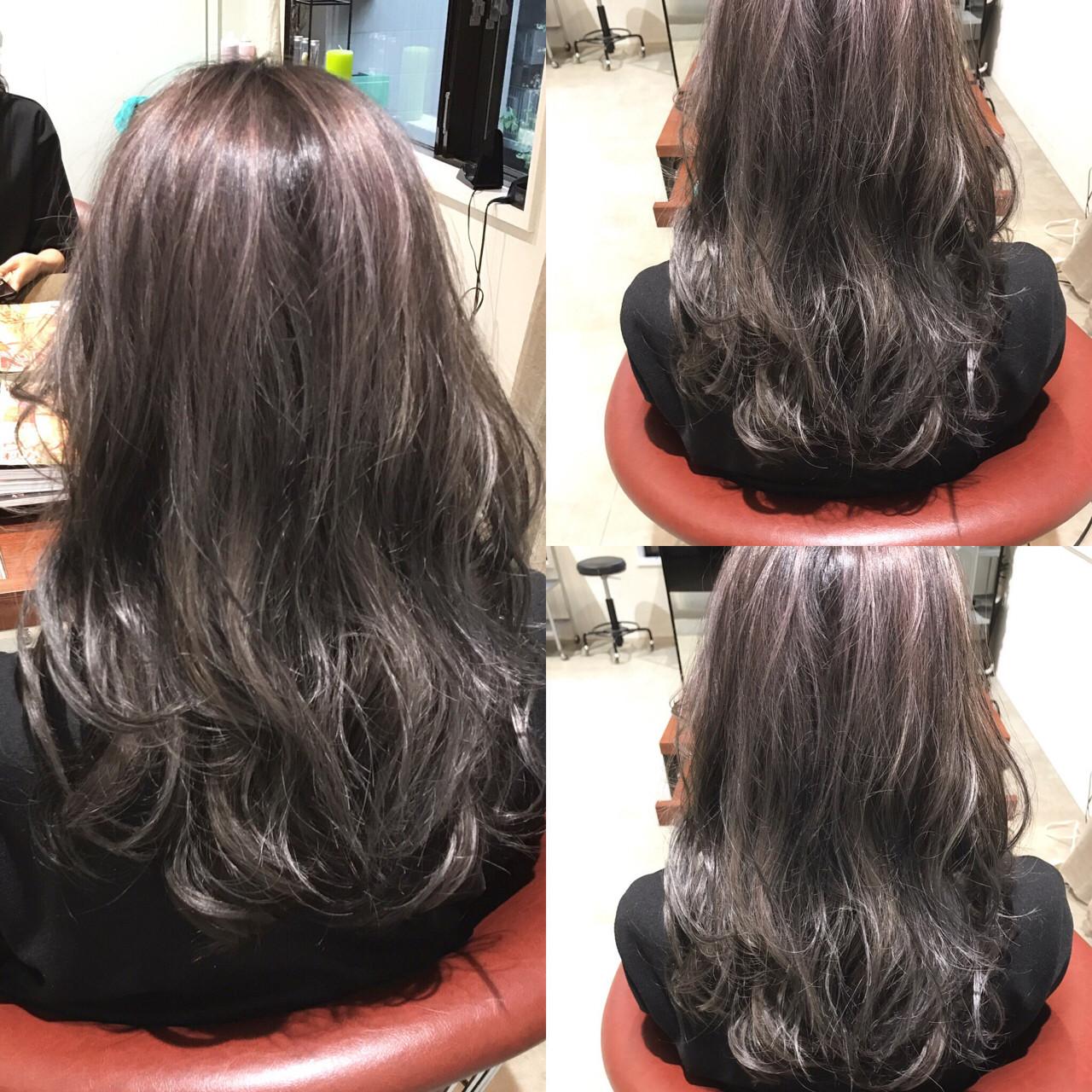 暗髪 ロング アッシュ ストリート ヘアスタイルや髪型の写真・画像 | 藤山将太 / ROSTAR