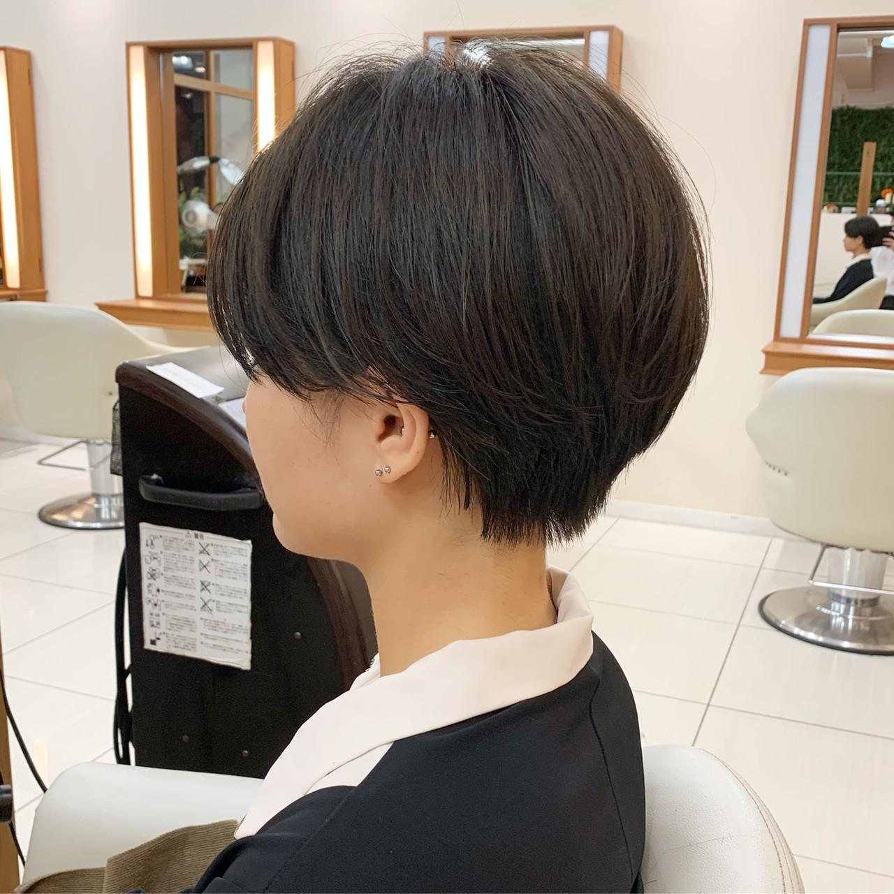 ショート ナチュラル 大人ショート ショートヘア ヘアスタイルや髪型の写真・画像 | 【つくば美容師】ショートヘア愛好家/矢崎 翔太 / ジールサロン
