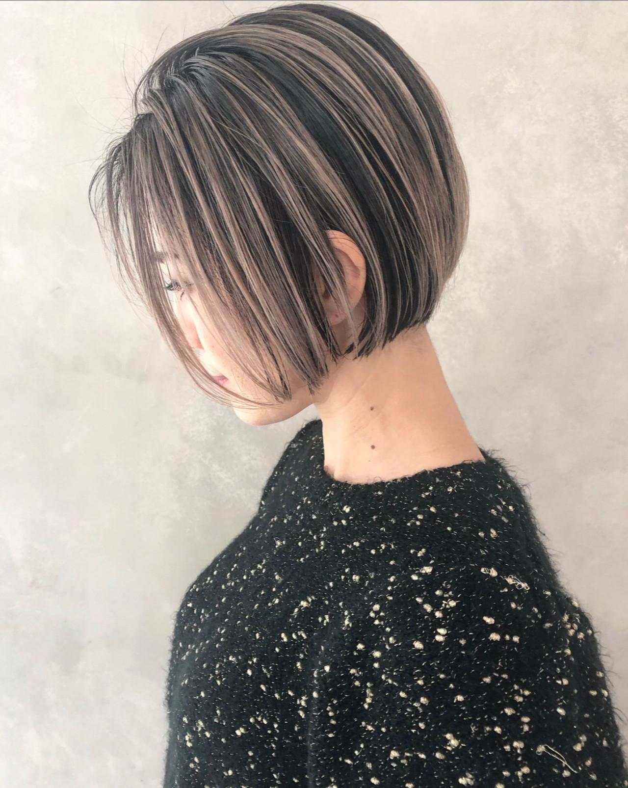 ミニボブ ボブ 切りっぱなしボブ ショートボブ ヘアスタイルや髪型の写真・画像 | ALT 森田 正浩 / ALT