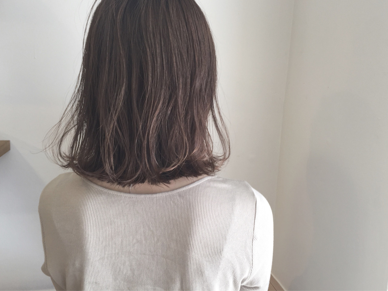 デート ボブ 外ハネ ナチュラル ヘアスタイルや髪型の写真・画像 | KENTO.NOESALON / NOE SALON