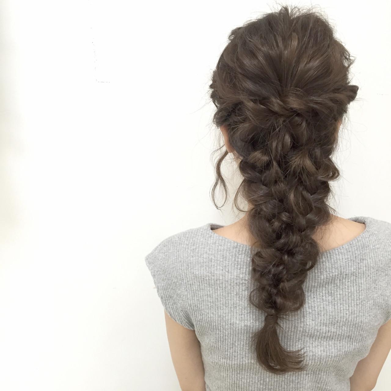 愛され ヘアアレンジ ロング 編み込み ヘアスタイルや髪型の写真・画像