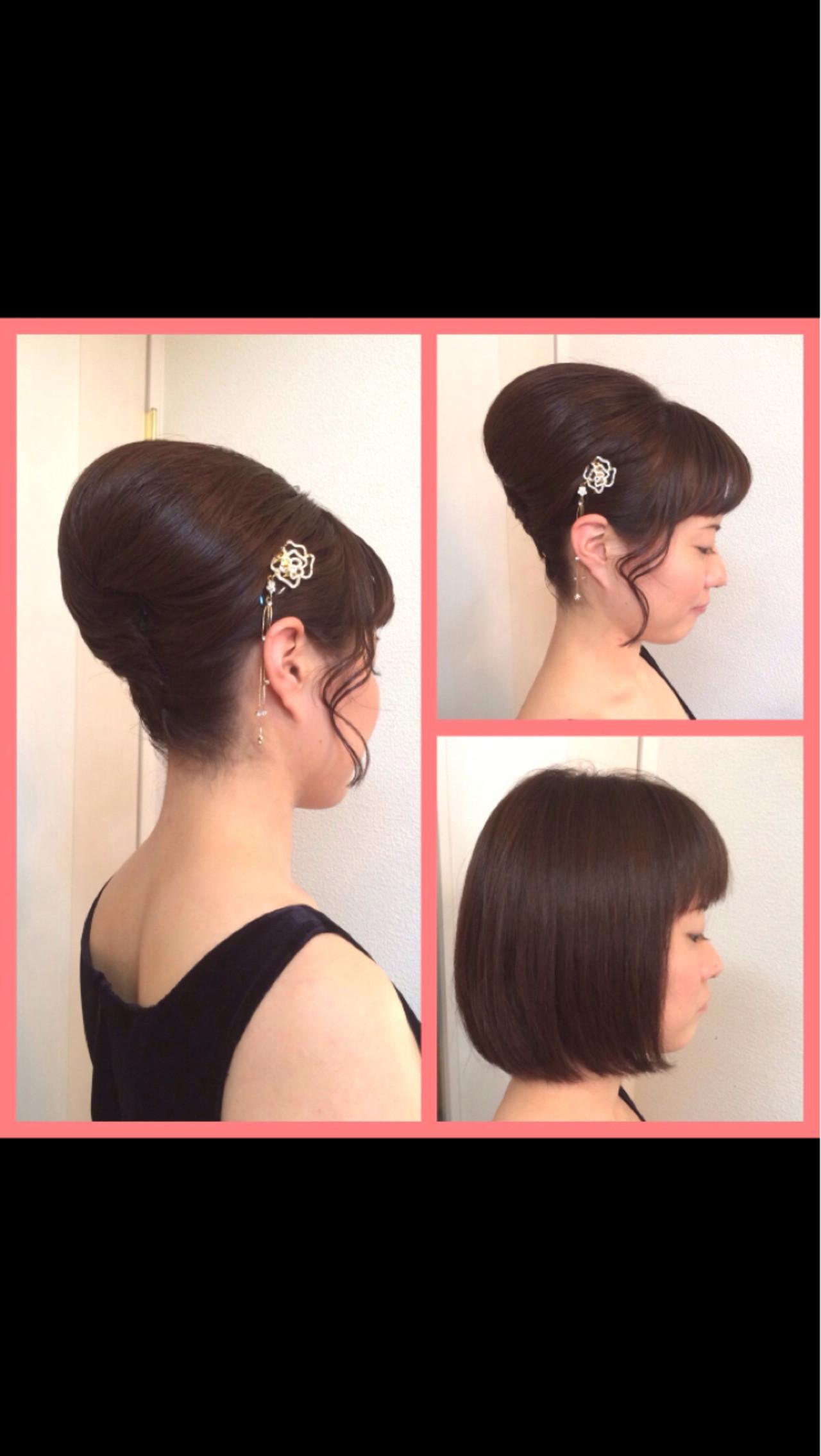 アップスタイル 和装 パーティ 結婚式 ヘアスタイルや髪型の写真・画像   a-ko 武田亜弥子 / ヘアメイクRainbow 代表