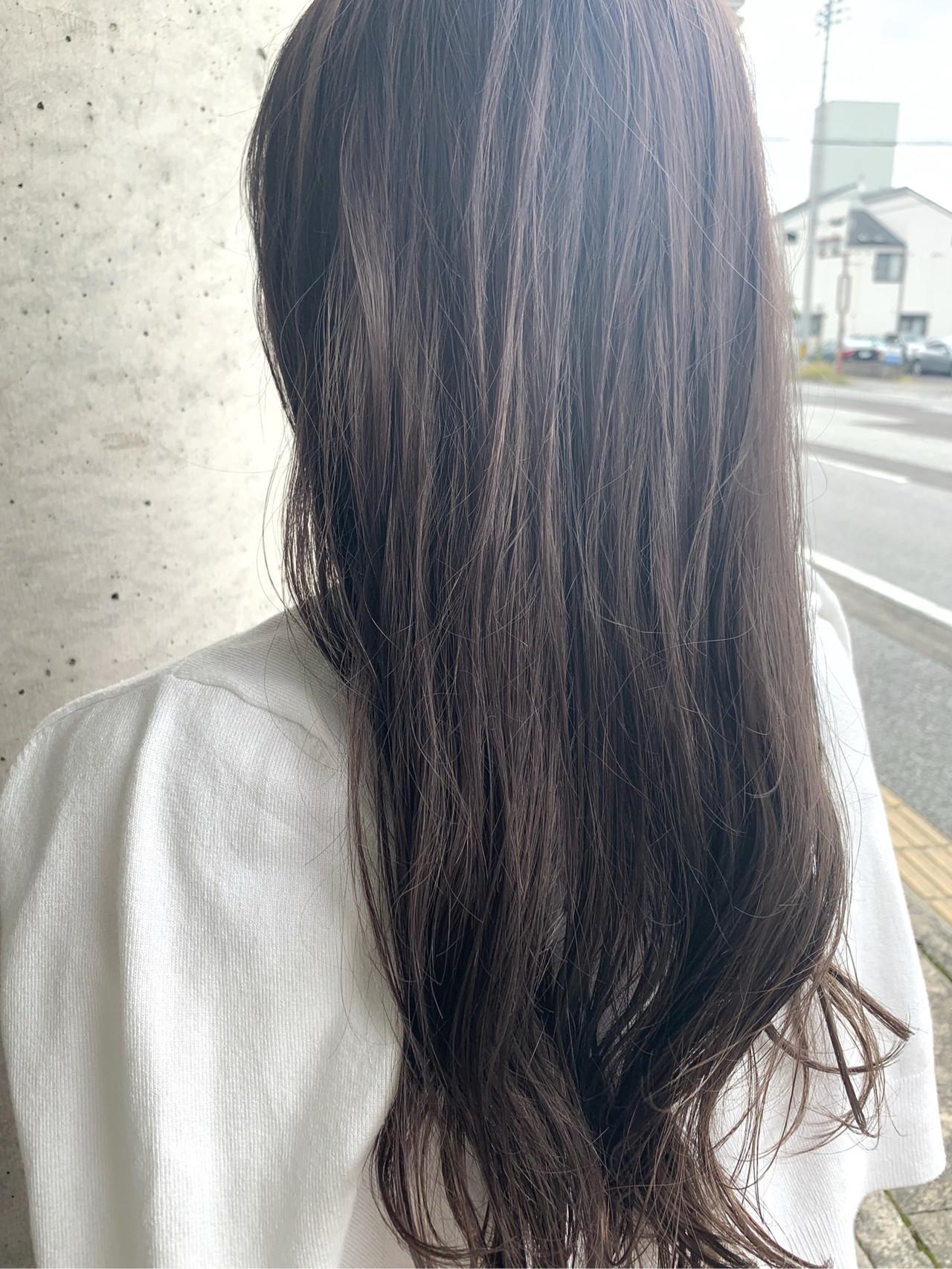 ナチュラル ブリーチ必須 セミロング 透明感カラー ヘアスタイルや髪型の写真・画像