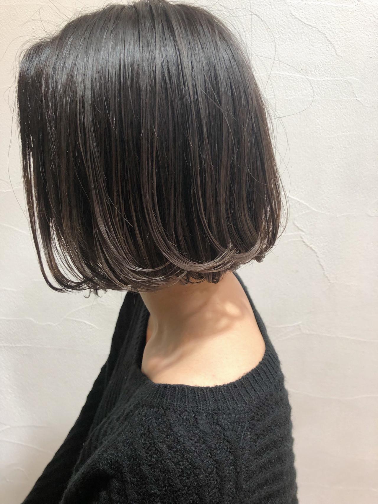外国人風 ボブ 透明感 グラデーションカラー ヘアスタイルや髪型の写真・画像