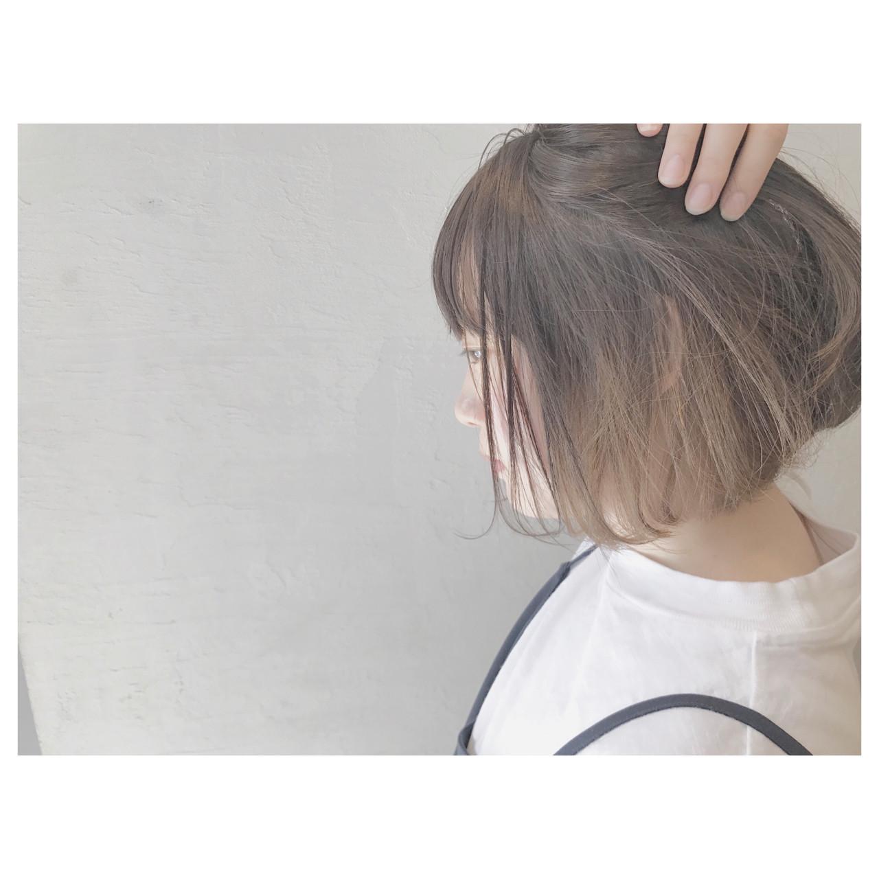 ボブ デート ストリート リラックス ヘアスタイルや髪型の写真・画像