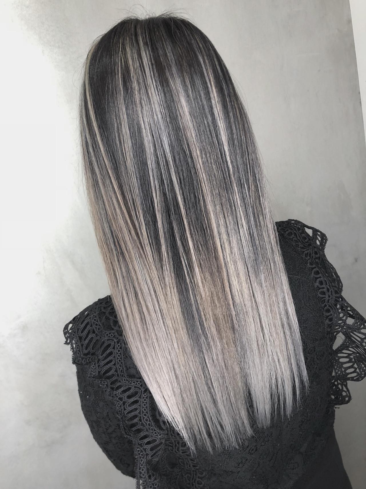 バレイヤージュ 外国人風 ナチュラル ハイライト ヘアスタイルや髪型の写真・画像 | 筒井 隆由 / Hair salon mode