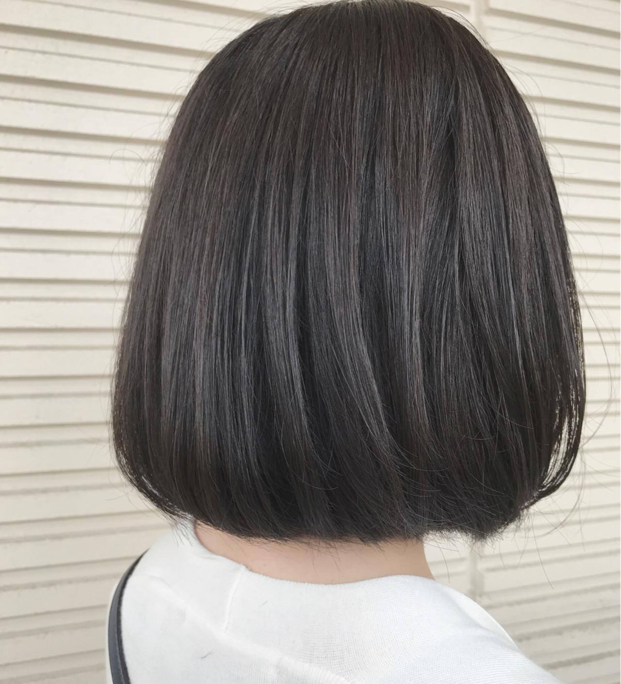 ボブ ネイビー ナチュラル ブルージュ ヘアスタイルや髪型の写真・画像 | 大越 勇嗣 / VISAGE Oak