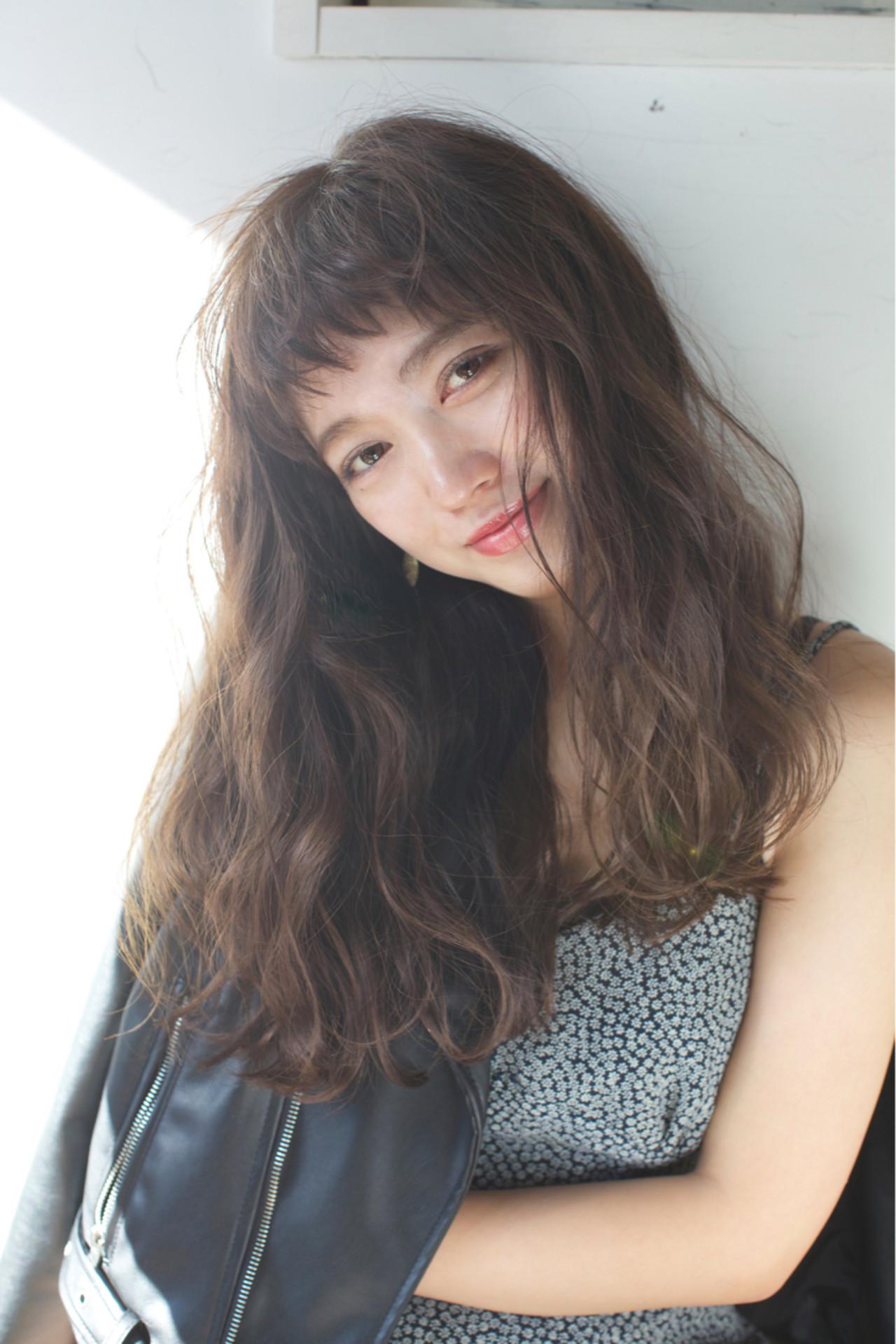 ロング 外国人風 大人かわいい ナチュラル ヘアスタイルや髪型の写真・画像