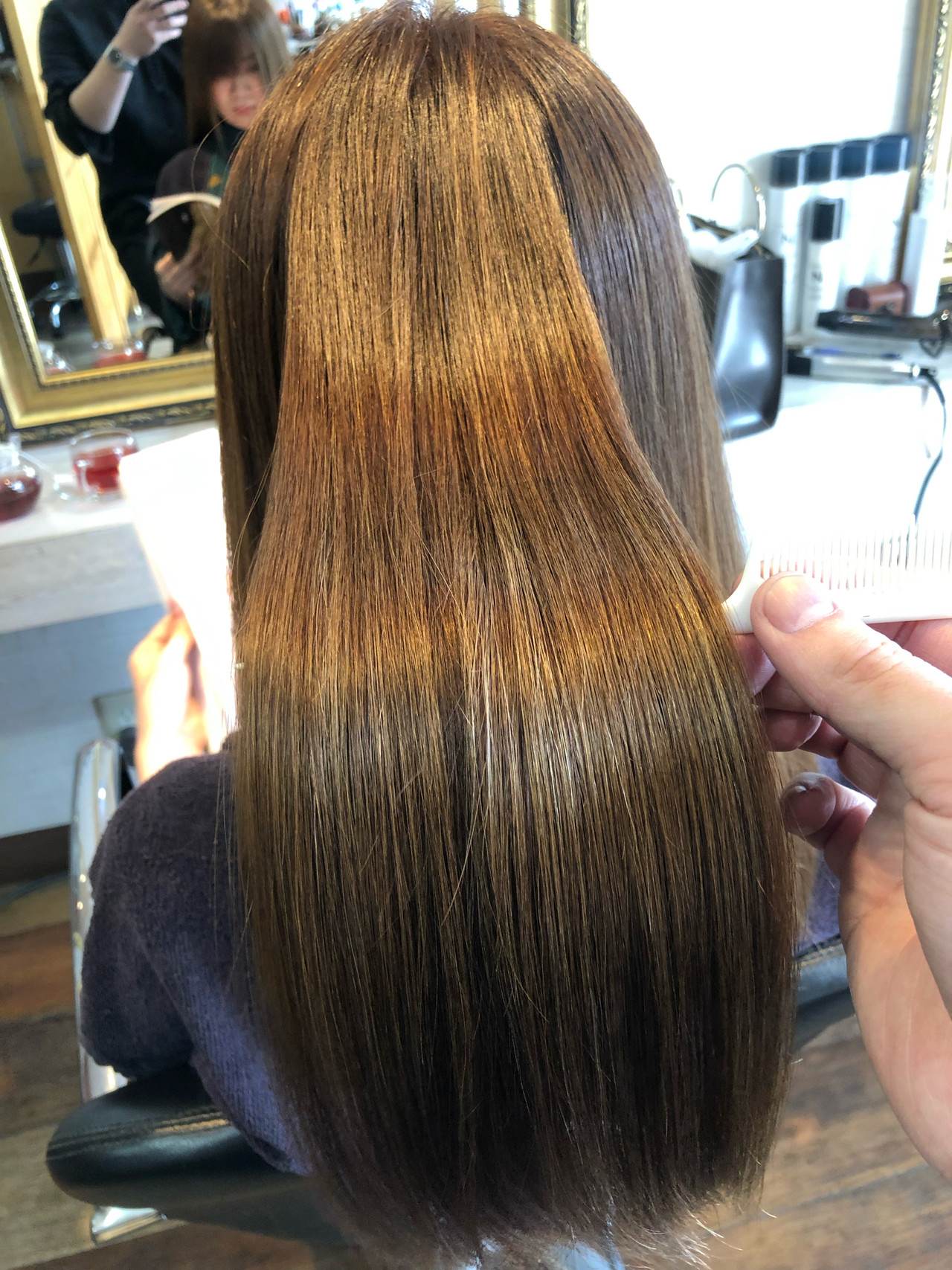 縮毛矯正 髪質改善 ロング ナチュラル ヘアスタイルや髪型の写真・画像