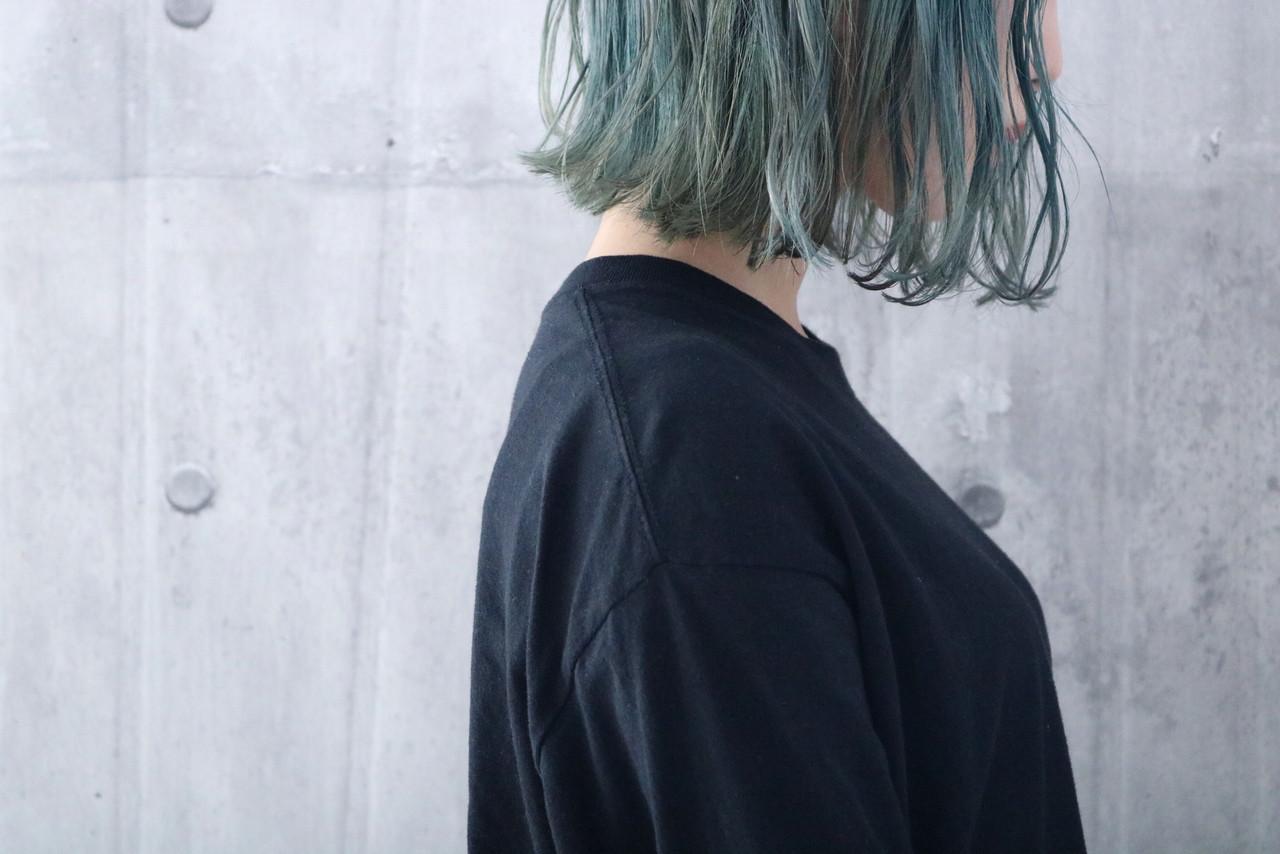 ナチュラル 切りっぱなしボブ ショートヘア ミニボブ ヘアスタイルや髪型の写真・画像 | 上田智久 / ooit 福岡 天神 / ooit